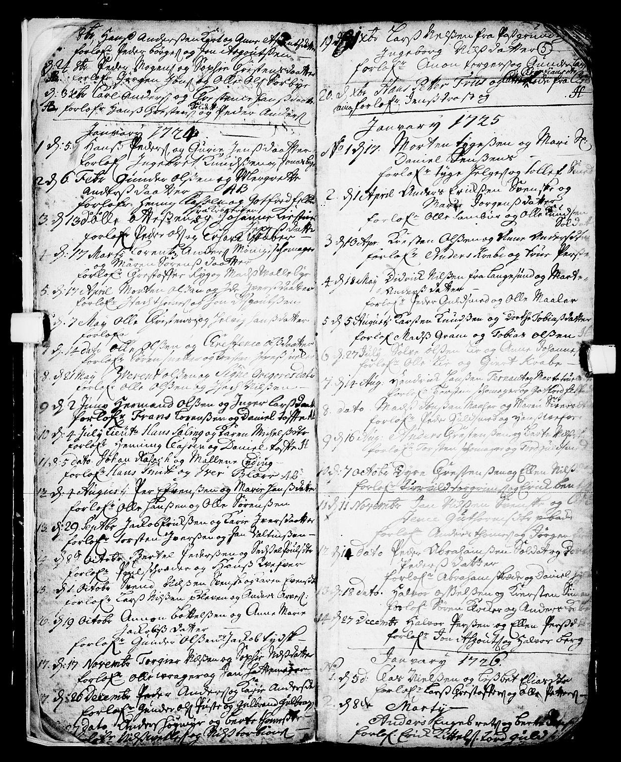 SAKO, Skien kirkebøker, F/Fa/L0002: Ministerialbok nr. 2, 1716-1757, s. 5
