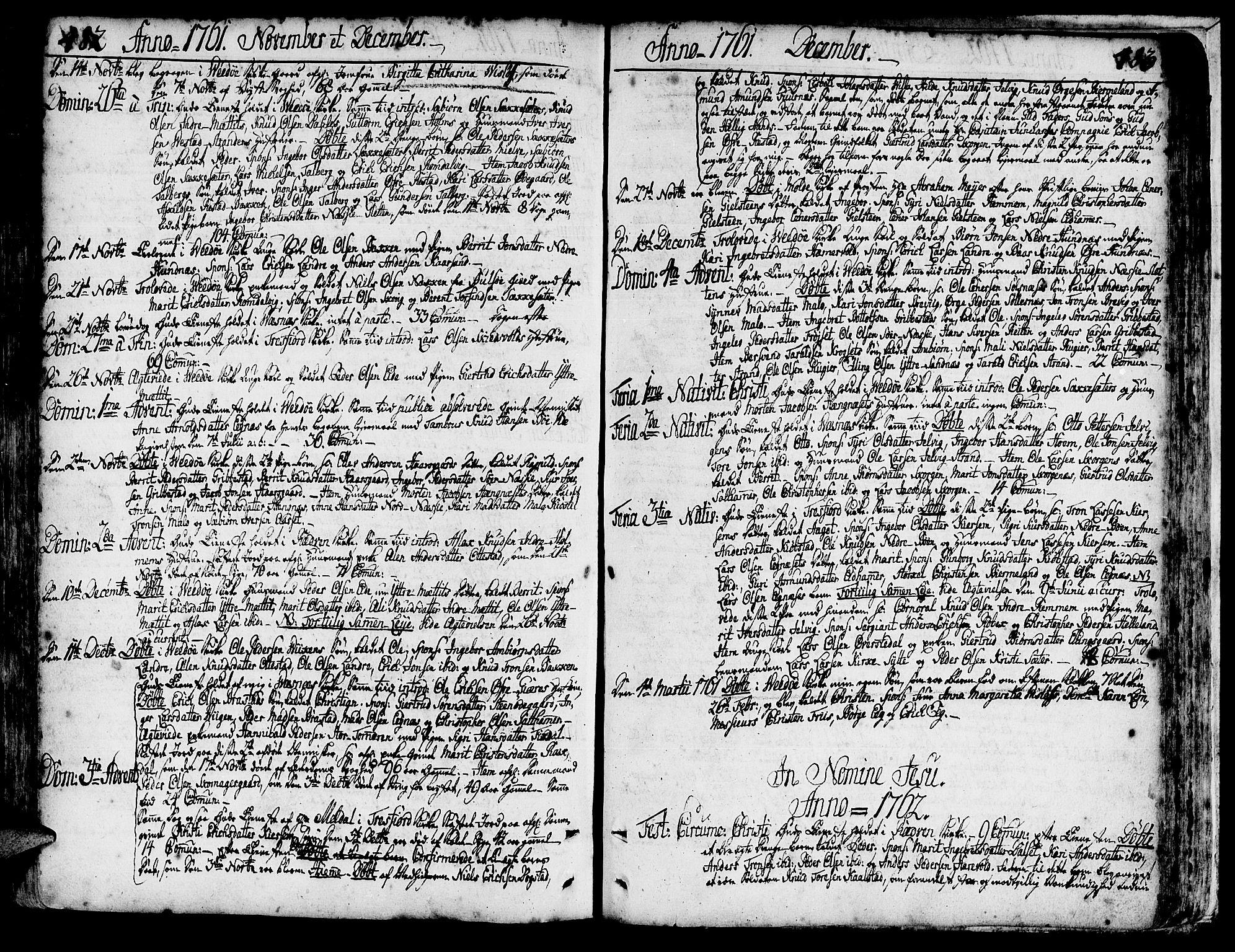 SAT, Ministerialprotokoller, klokkerbøker og fødselsregistre - Møre og Romsdal, 547/L0599: Ministerialbok nr. 547A01, 1721-1764, s. 482-483