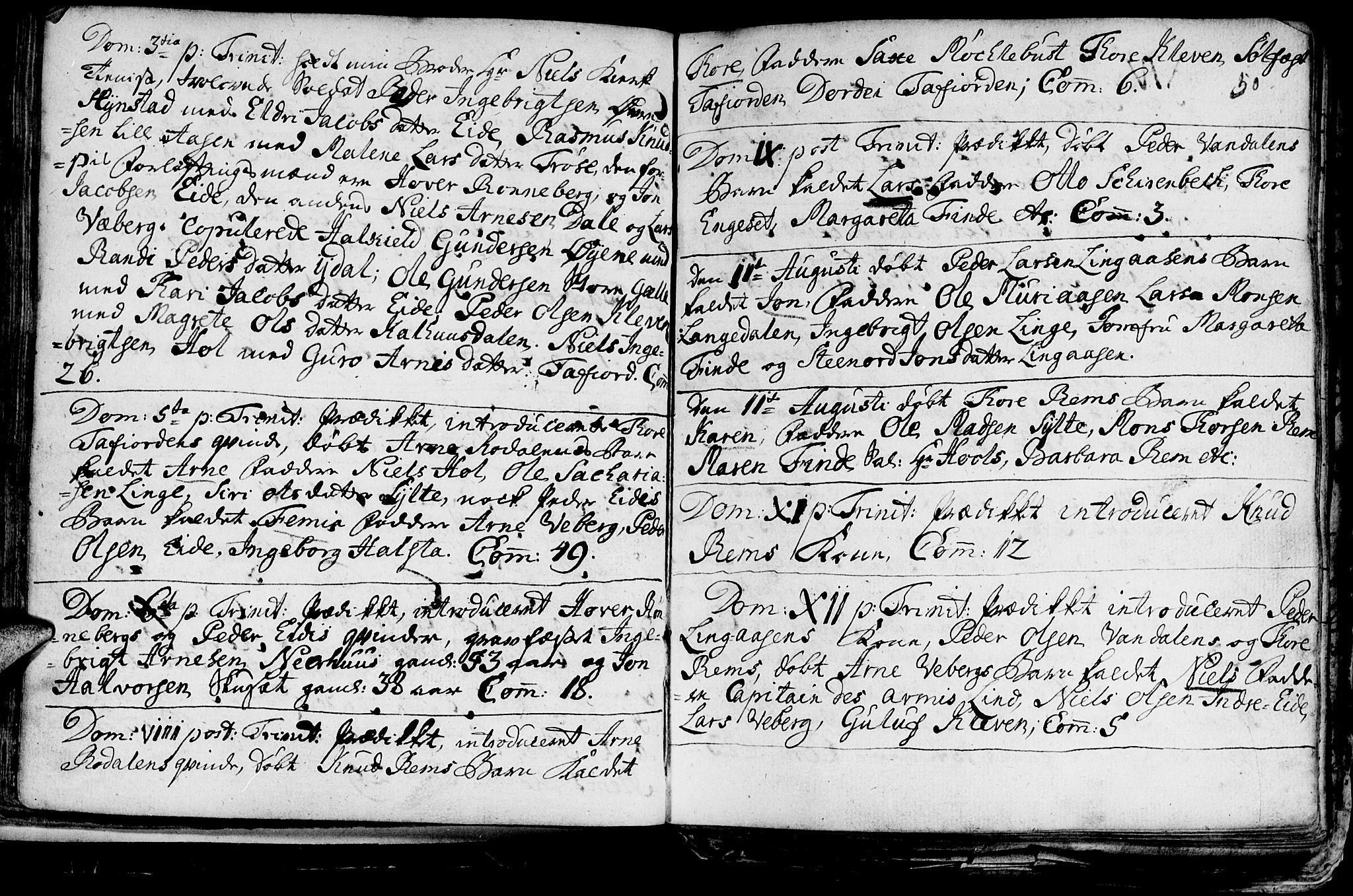 SAT, Ministerialprotokoller, klokkerbøker og fødselsregistre - Møre og Romsdal, 519/L0240: Ministerialbok nr. 519A01 /1, 1736-1760, s. 50