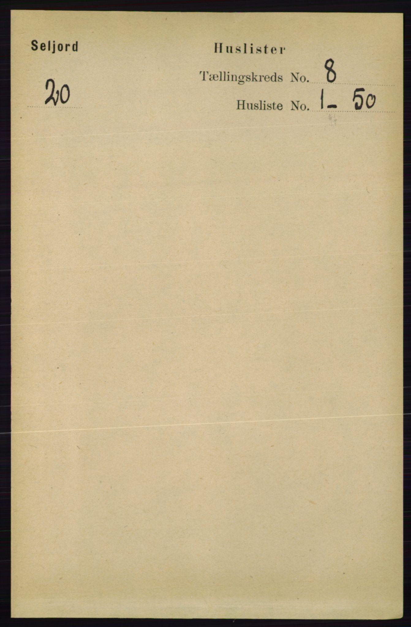 RA, Folketelling 1891 for 0828 Seljord herred, 1891, s. 2821