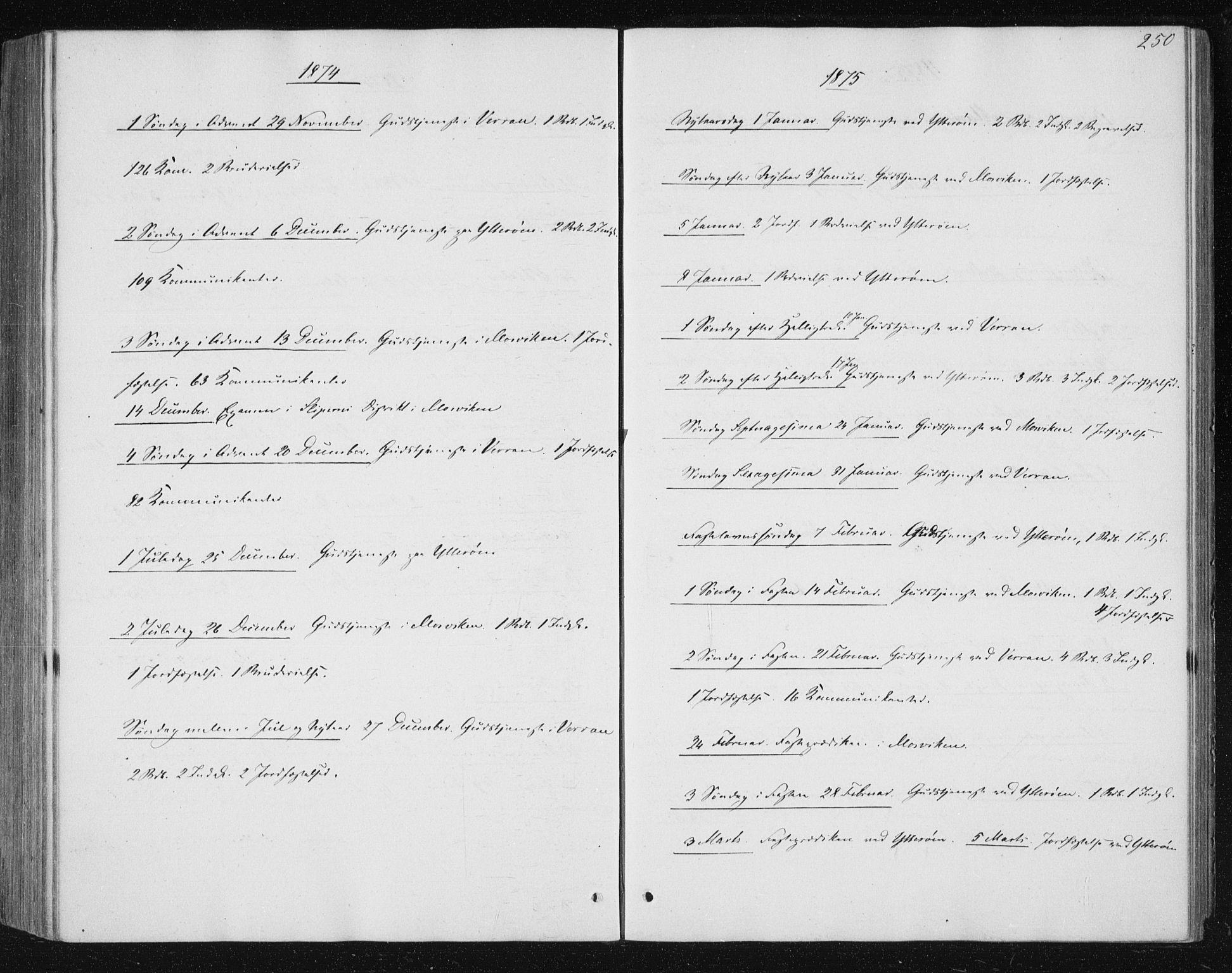 SAT, Ministerialprotokoller, klokkerbøker og fødselsregistre - Nord-Trøndelag, 722/L0219: Ministerialbok nr. 722A06, 1868-1880, s. 250