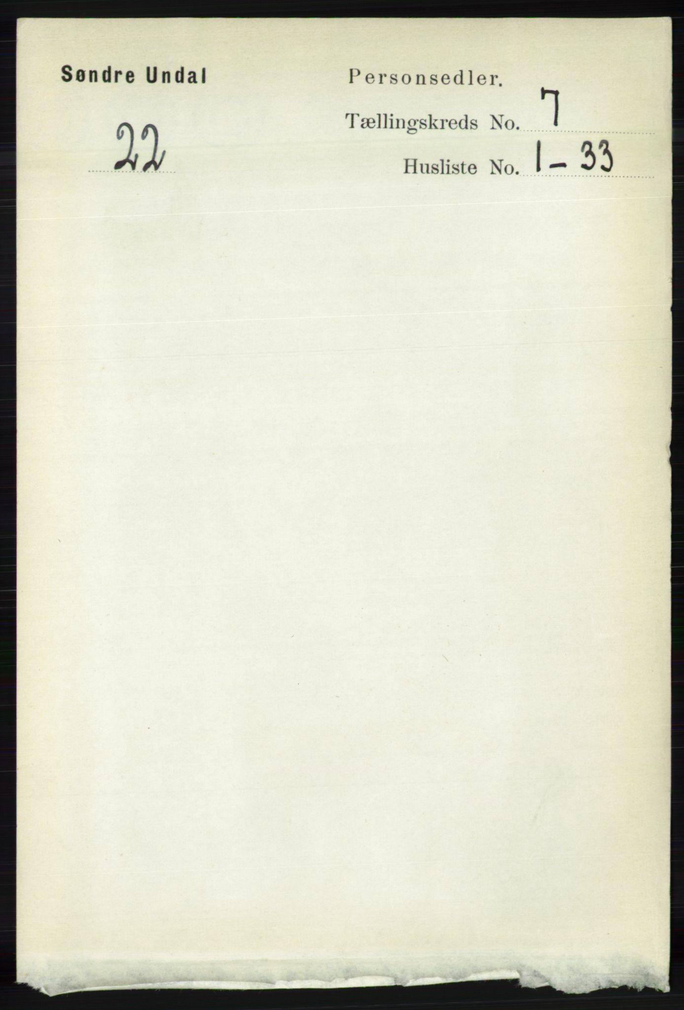RA, Folketelling 1891 for 1029 Sør-Audnedal herred, 1891, s. 2621