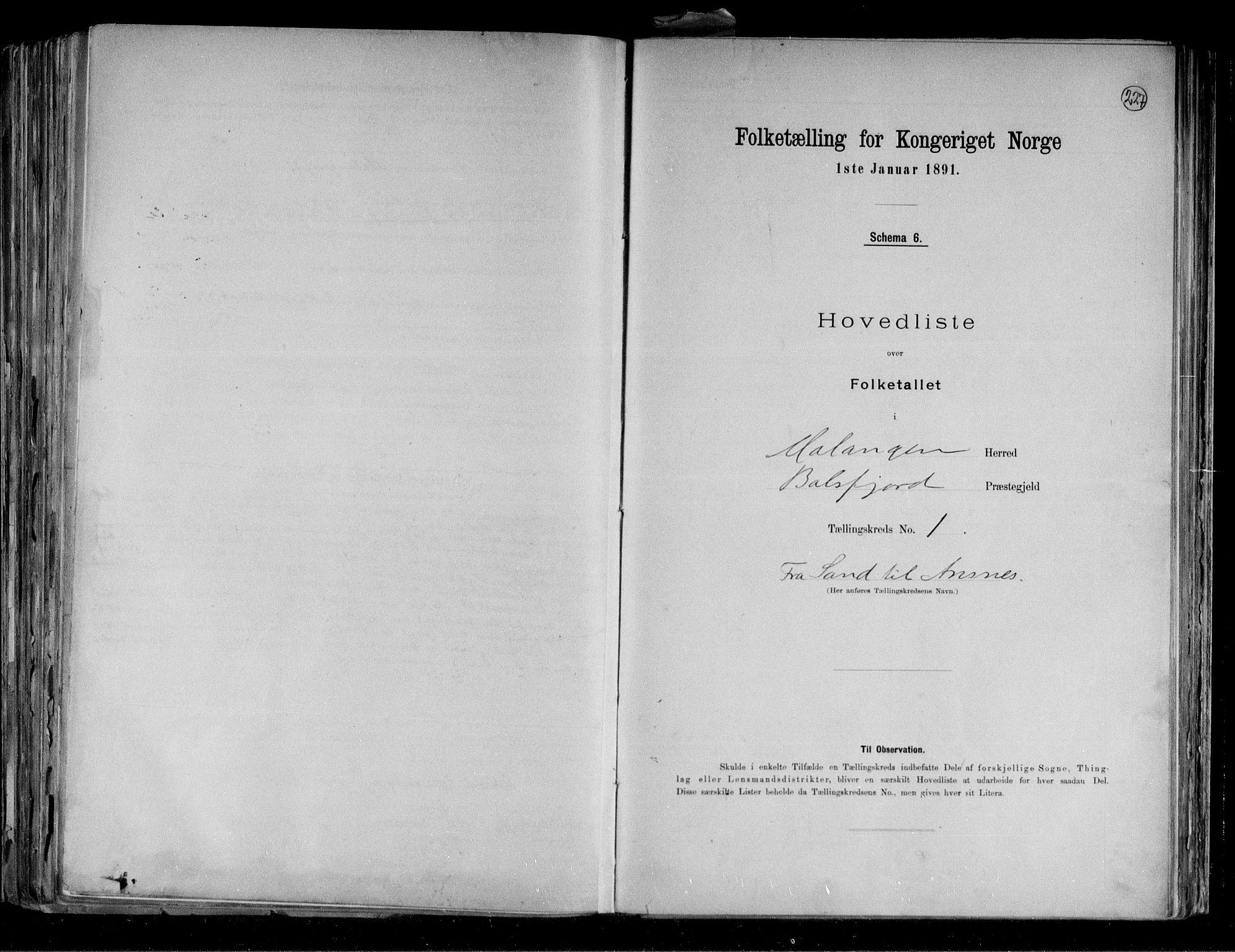 RA, Folketelling 1891 for 1932 Malangen herred, 1891, s. 4