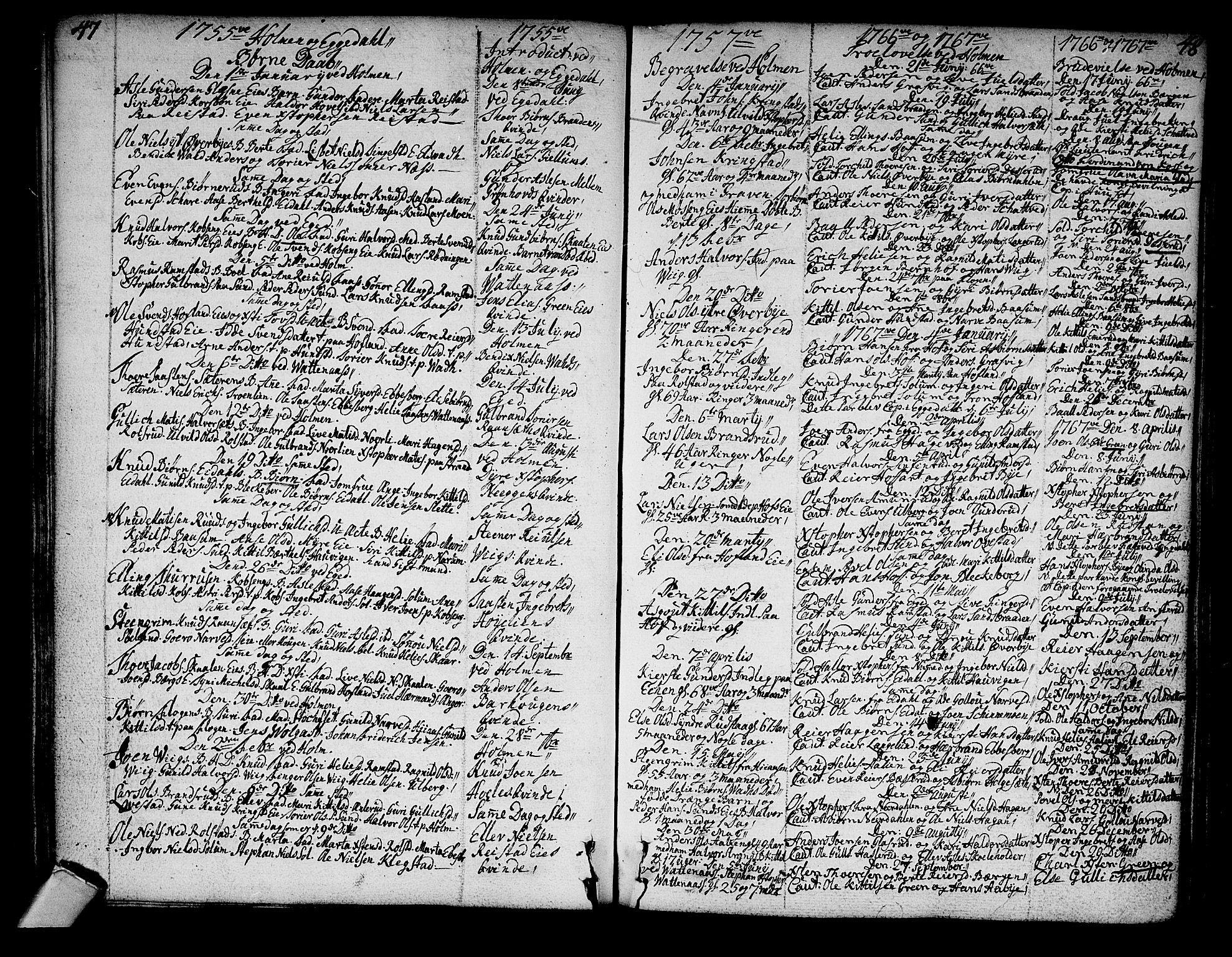 SAKO, Sigdal kirkebøker, F/Fa/L0001: Ministerialbok nr. I 1, 1722-1777, s. 47-48