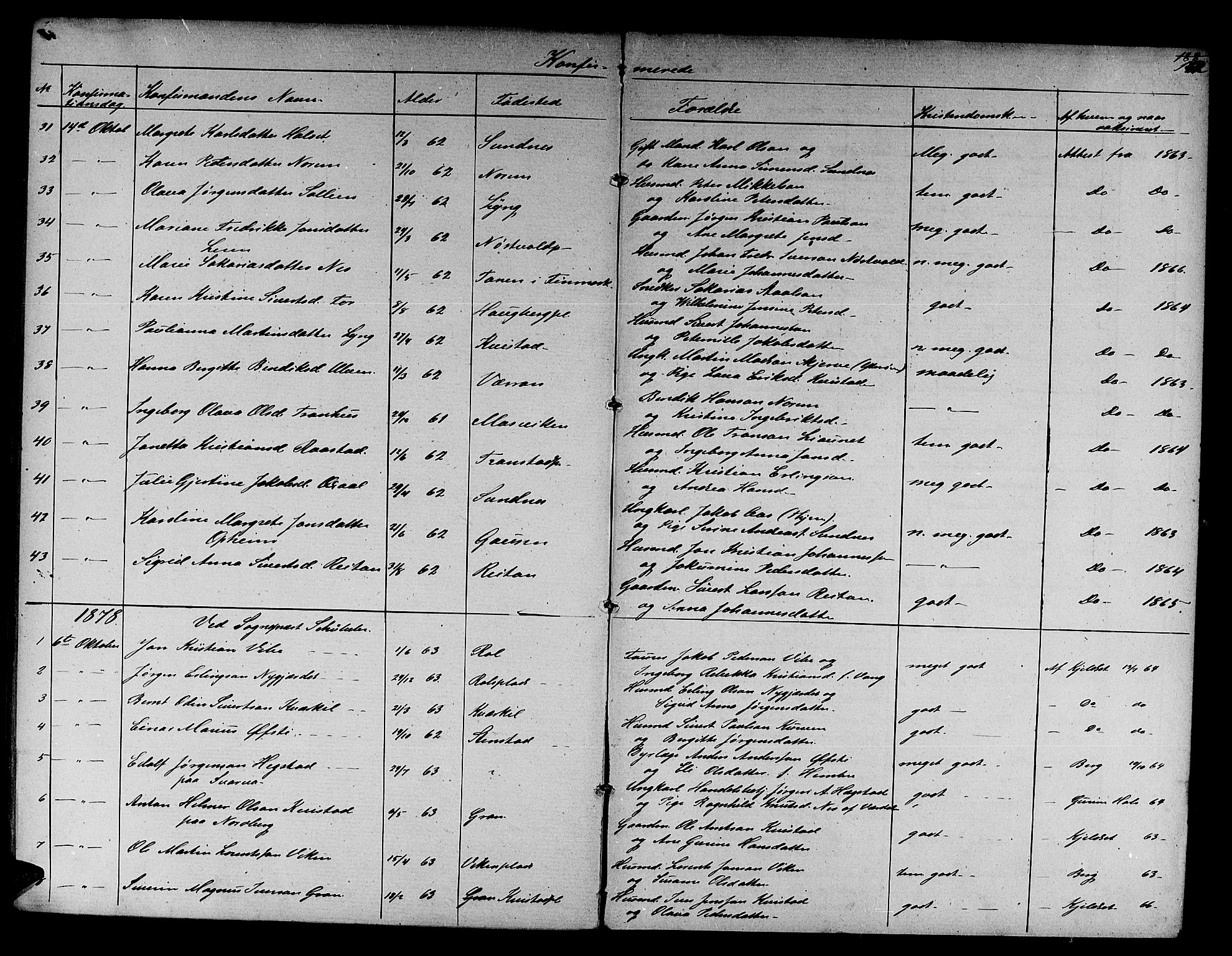 SAT, Ministerialprotokoller, klokkerbøker og fødselsregistre - Nord-Trøndelag, 730/L0300: Klokkerbok nr. 730C03, 1872-1879, s. 152