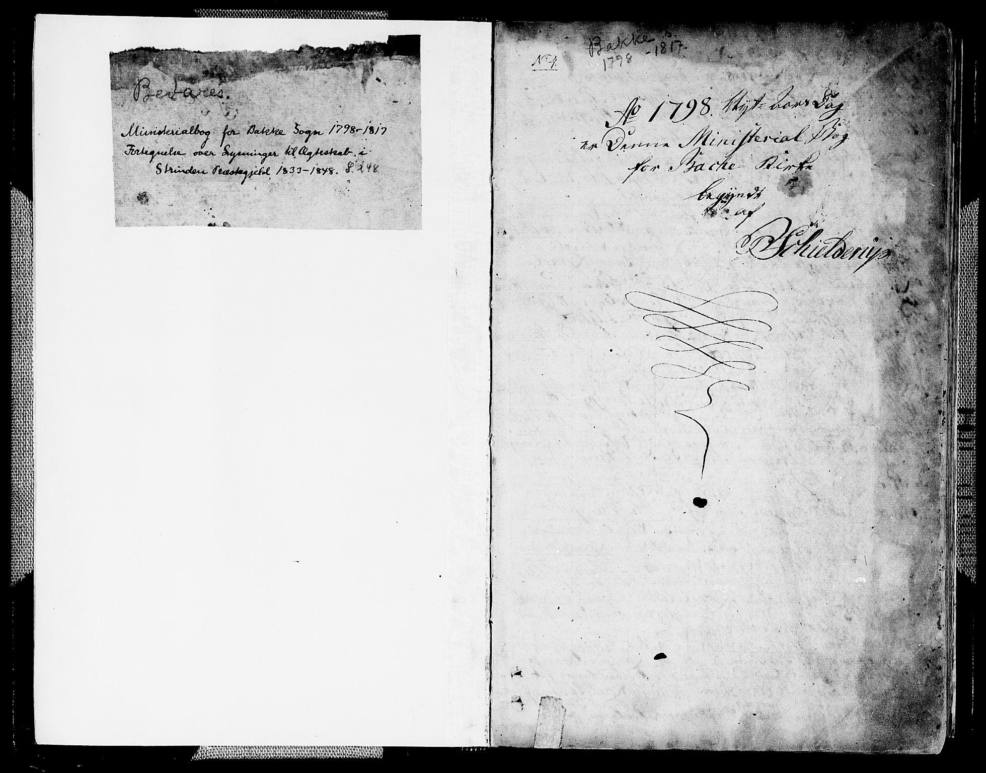SAT, Ministerialprotokoller, klokkerbøker og fødselsregistre - Sør-Trøndelag, 604/L0181: Ministerialbok nr. 604A02, 1798-1817, s. 0-1