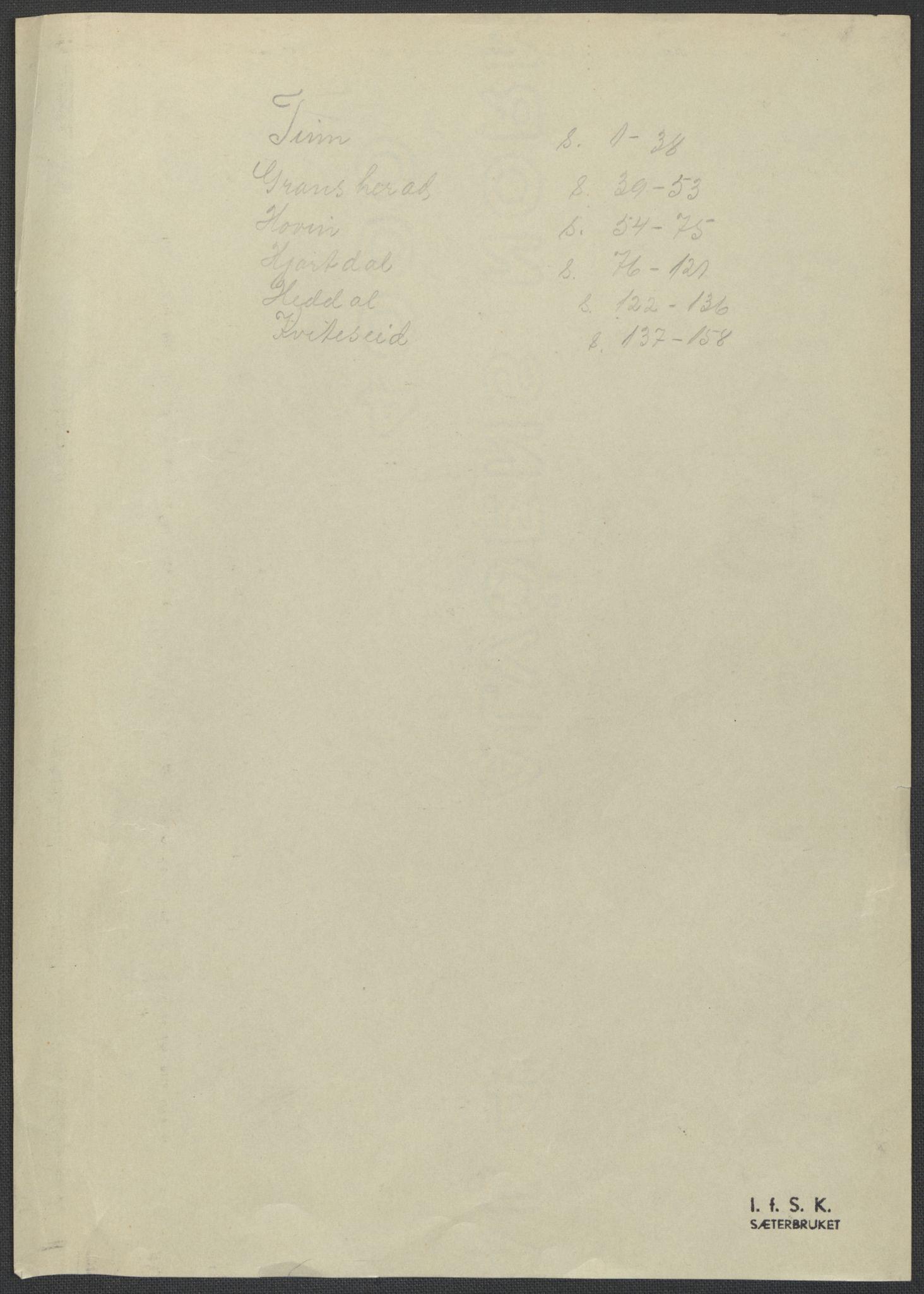 RA, Instituttet for sammenlignende kulturforskning, F/Fc/L0007: Eske B7:, 1934-1937, s. upaginert