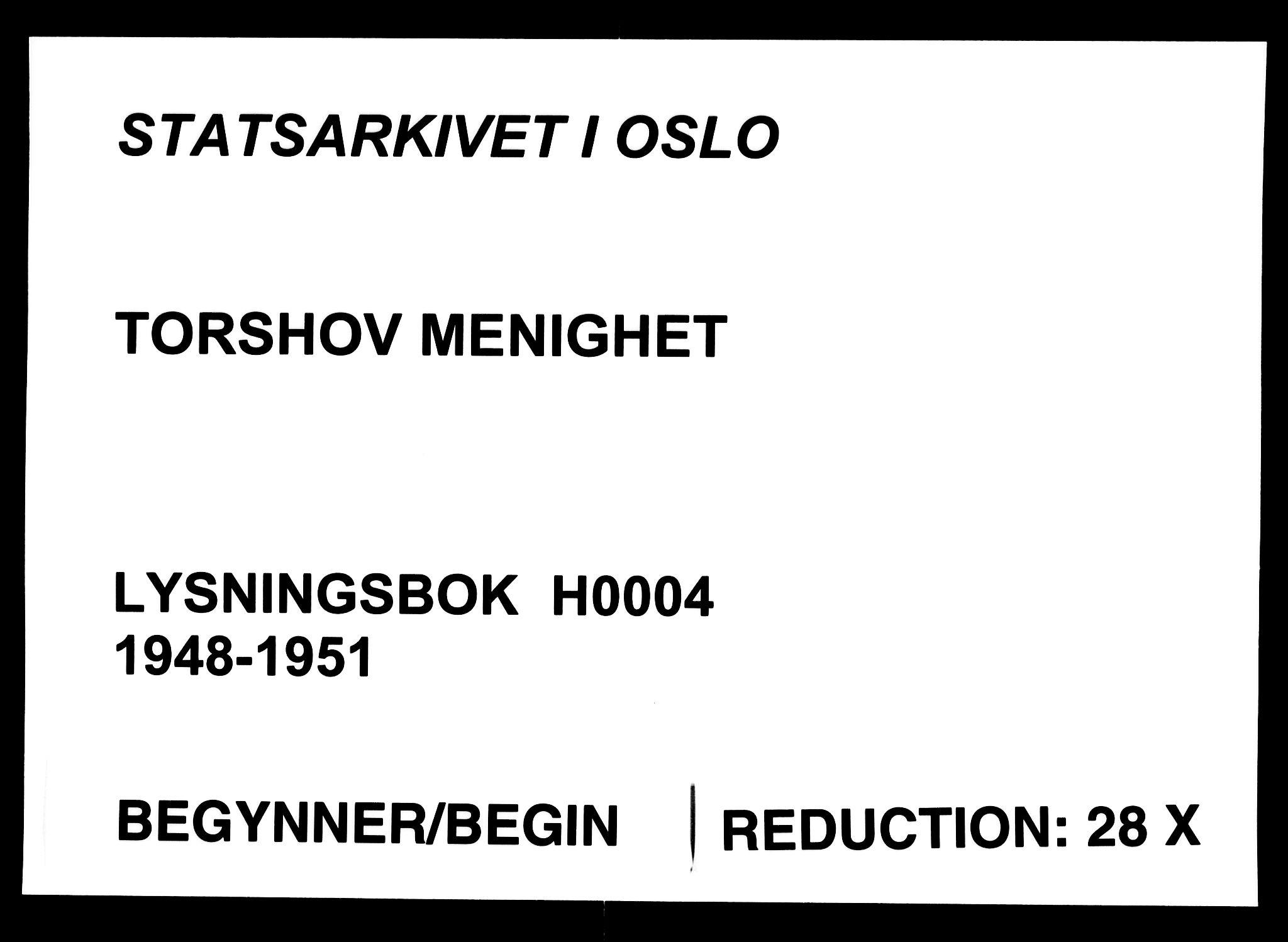 SAO, Torshov prestekontor Kirkebøker, H/Ha/L0004: Lysningsprotokoll nr. 4, 1948-1951