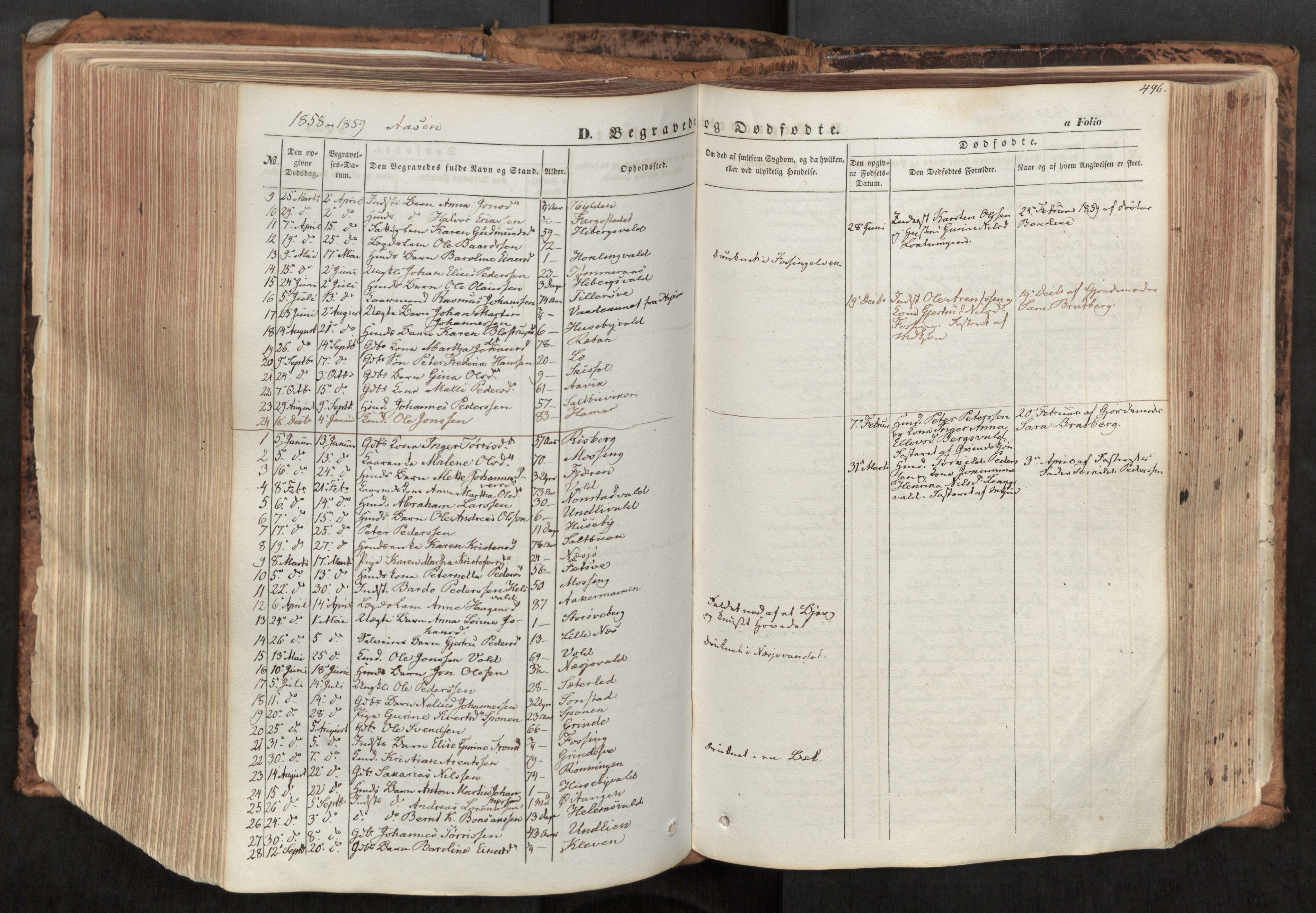 SAT, Ministerialprotokoller, klokkerbøker og fødselsregistre - Nord-Trøndelag, 713/L0116: Ministerialbok nr. 713A07, 1850-1877, s. 496