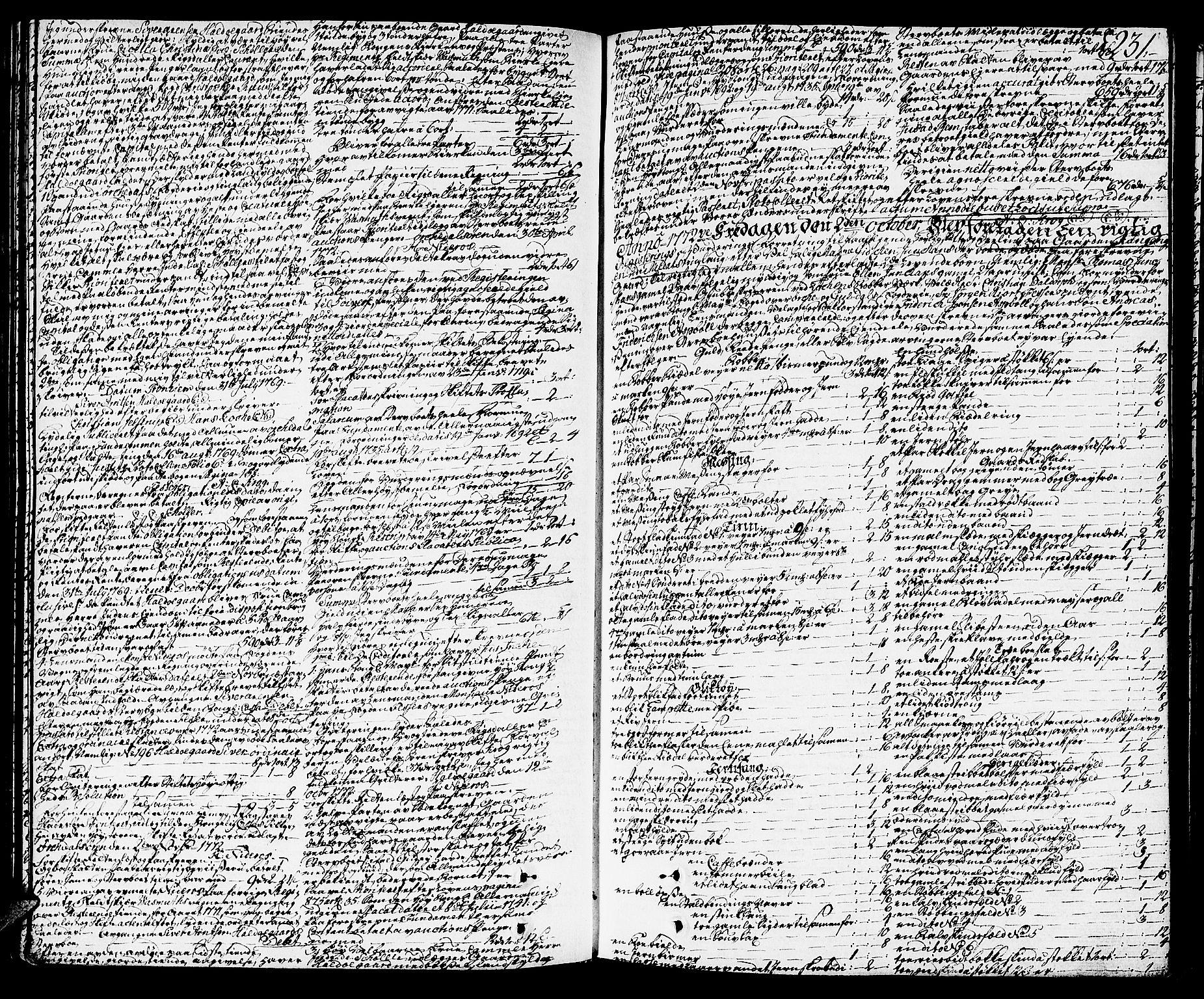 SAT, Orkdal sorenskriveri, 3/3Aa/L0007: Skifteprotokoller, 1767-1782, s. 230b-231a