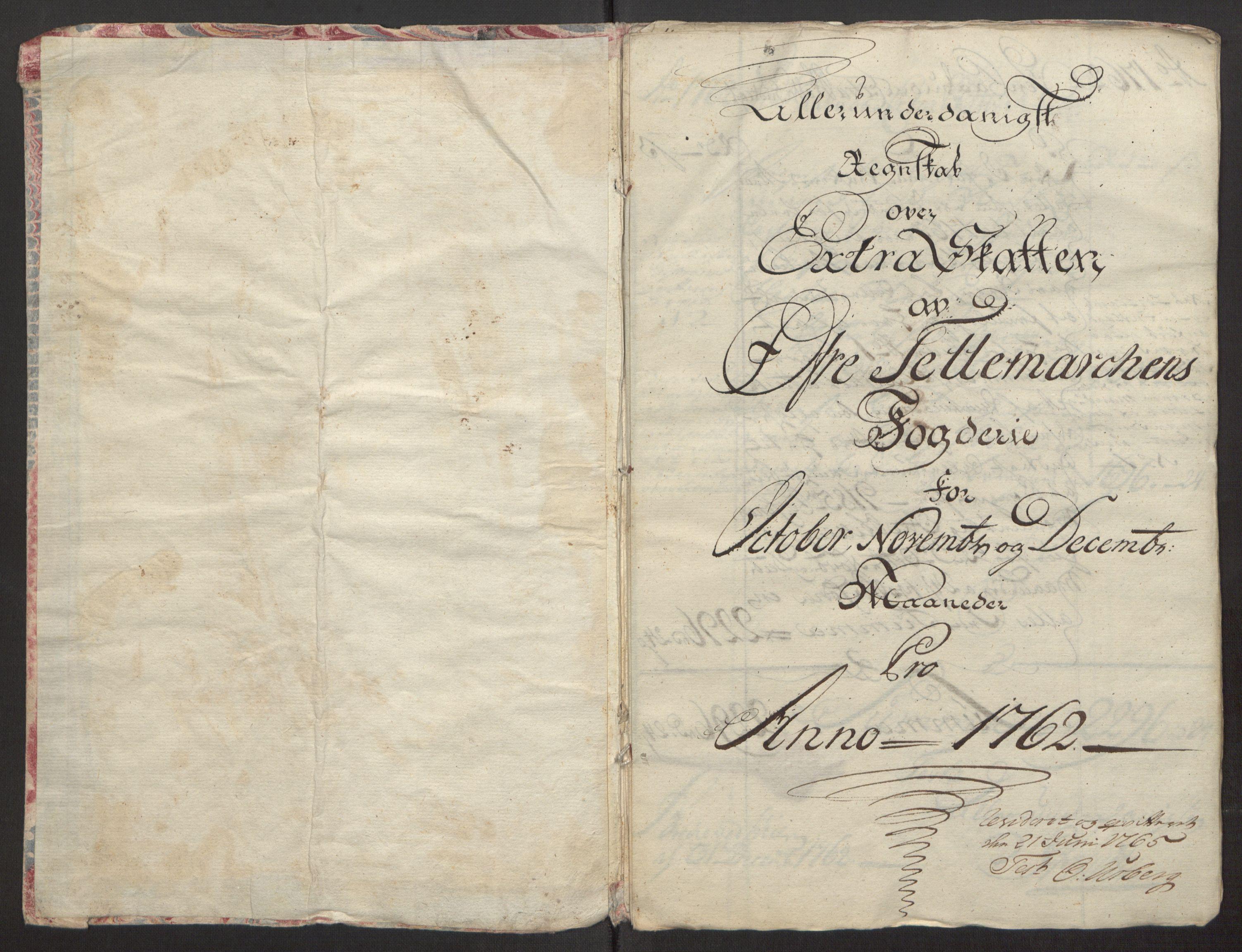 RA, Rentekammeret inntil 1814, Reviderte regnskaper, Fogderegnskap, R38/L2293: Ekstraskatten Øvre Telemark, 1762-1770, s. 4