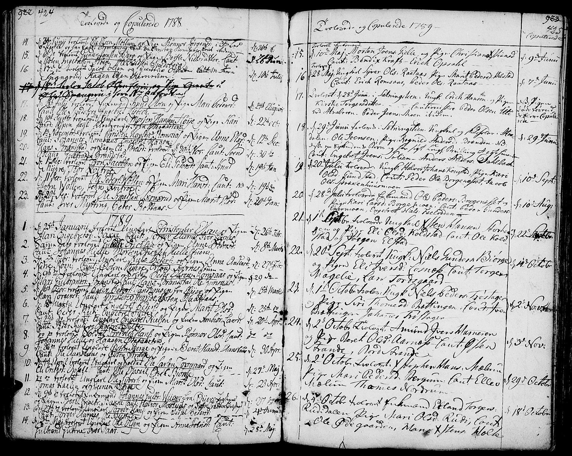 SAH, Ringebu prestekontor, Ministerialbok nr. 3, 1781-1820, s. 424-425