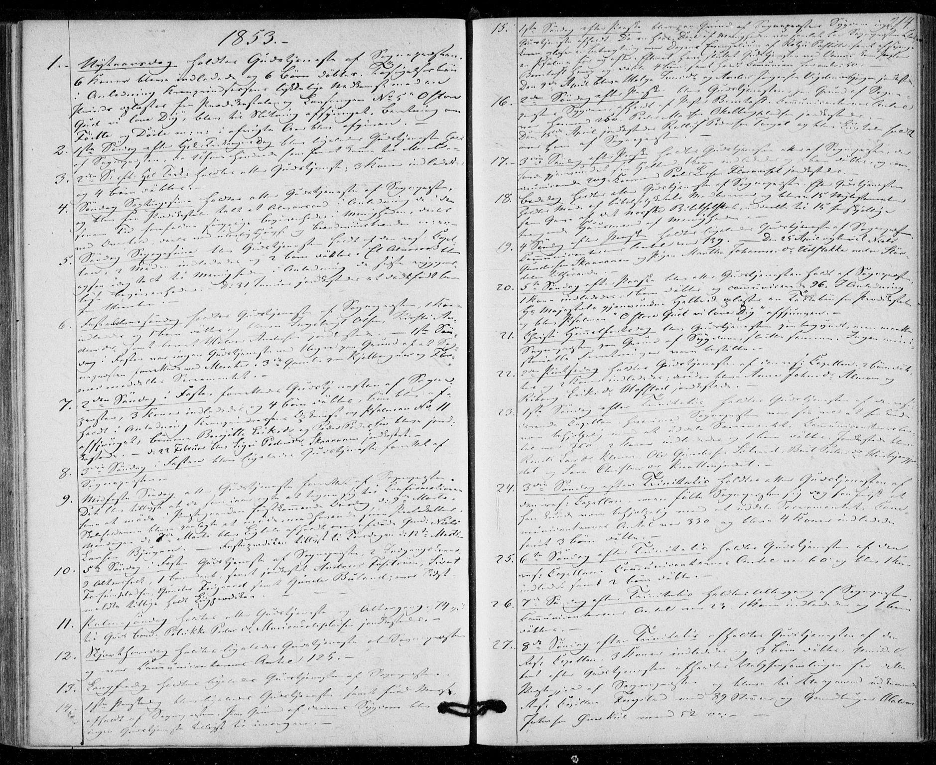 SAT, Ministerialprotokoller, klokkerbøker og fødselsregistre - Nord-Trøndelag, 703/L0028: Ministerialbok nr. 703A01, 1850-1862, s. 214