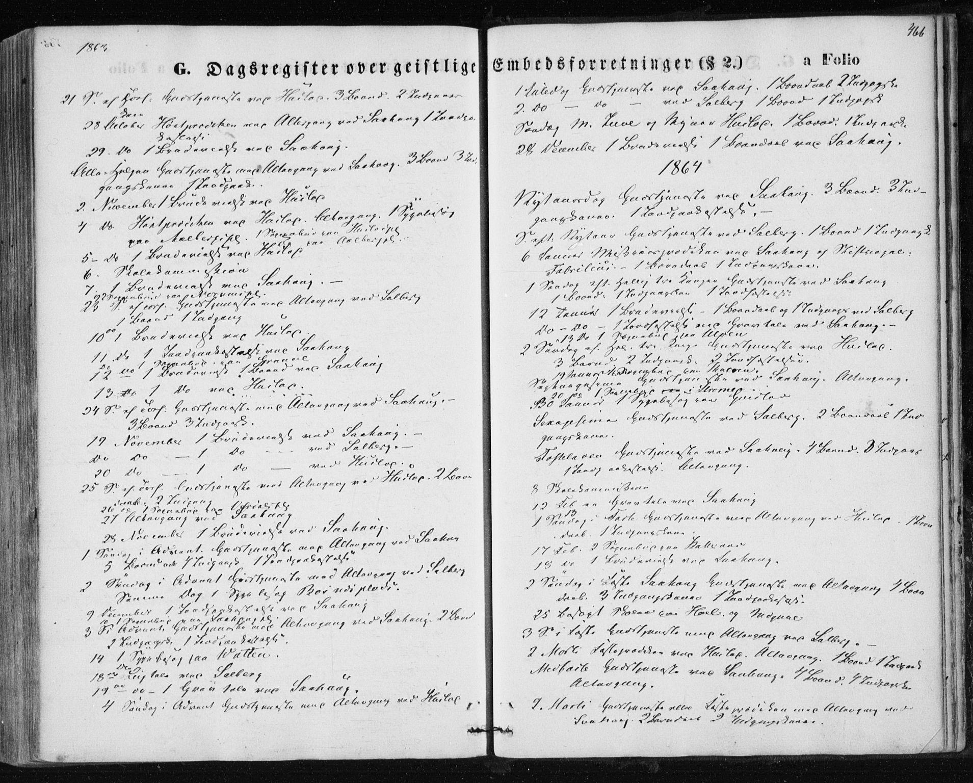 SAT, Ministerialprotokoller, klokkerbøker og fødselsregistre - Nord-Trøndelag, 730/L0283: Ministerialbok nr. 730A08, 1855-1865, s. 466