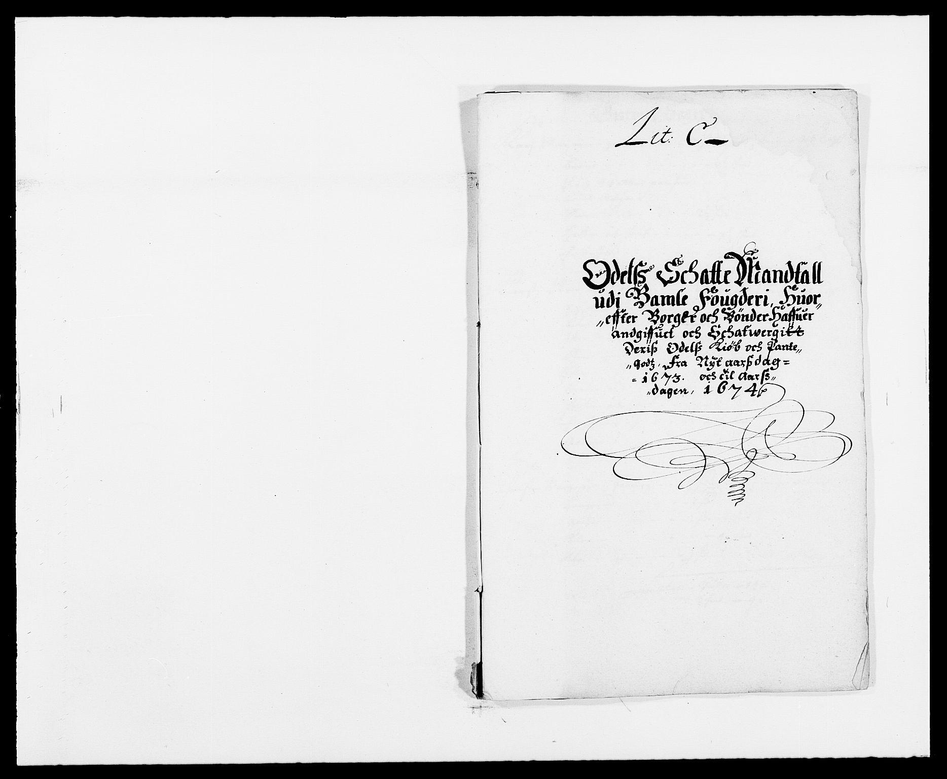 RA, Rentekammeret inntil 1814, Reviderte regnskaper, Fogderegnskap, R34/L2042: Fogderegnskap Bamble, 1673-1675, s. 51
