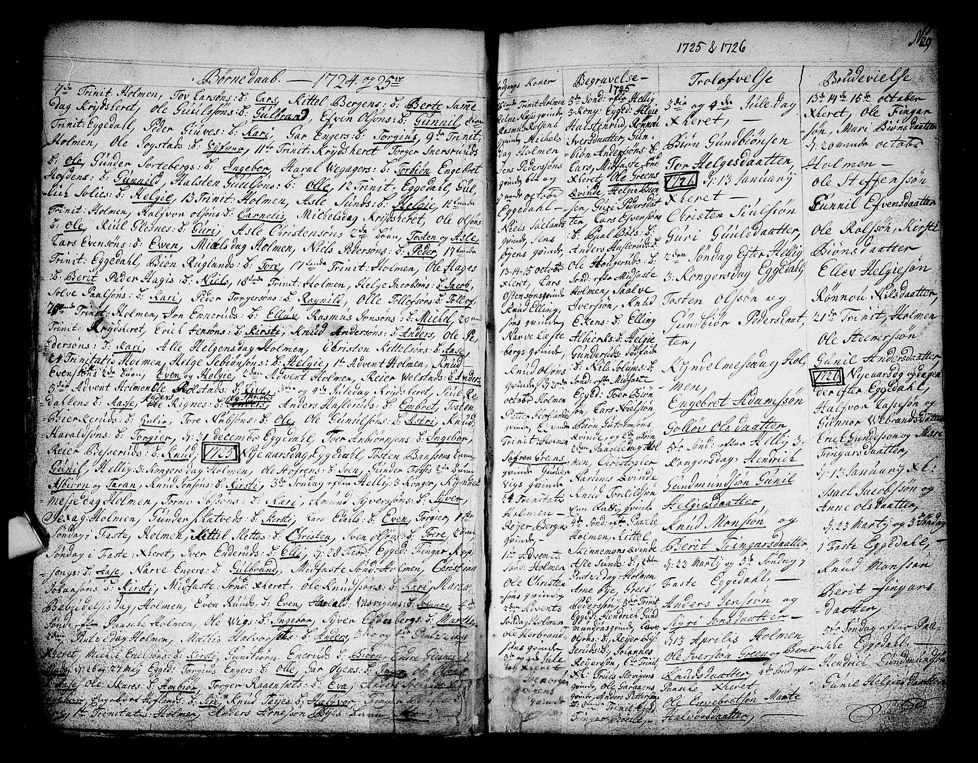 SAKO, Sigdal kirkebøker, F/Fa/L0001: Ministerialbok nr. I 1, 1722-1777, s. 9