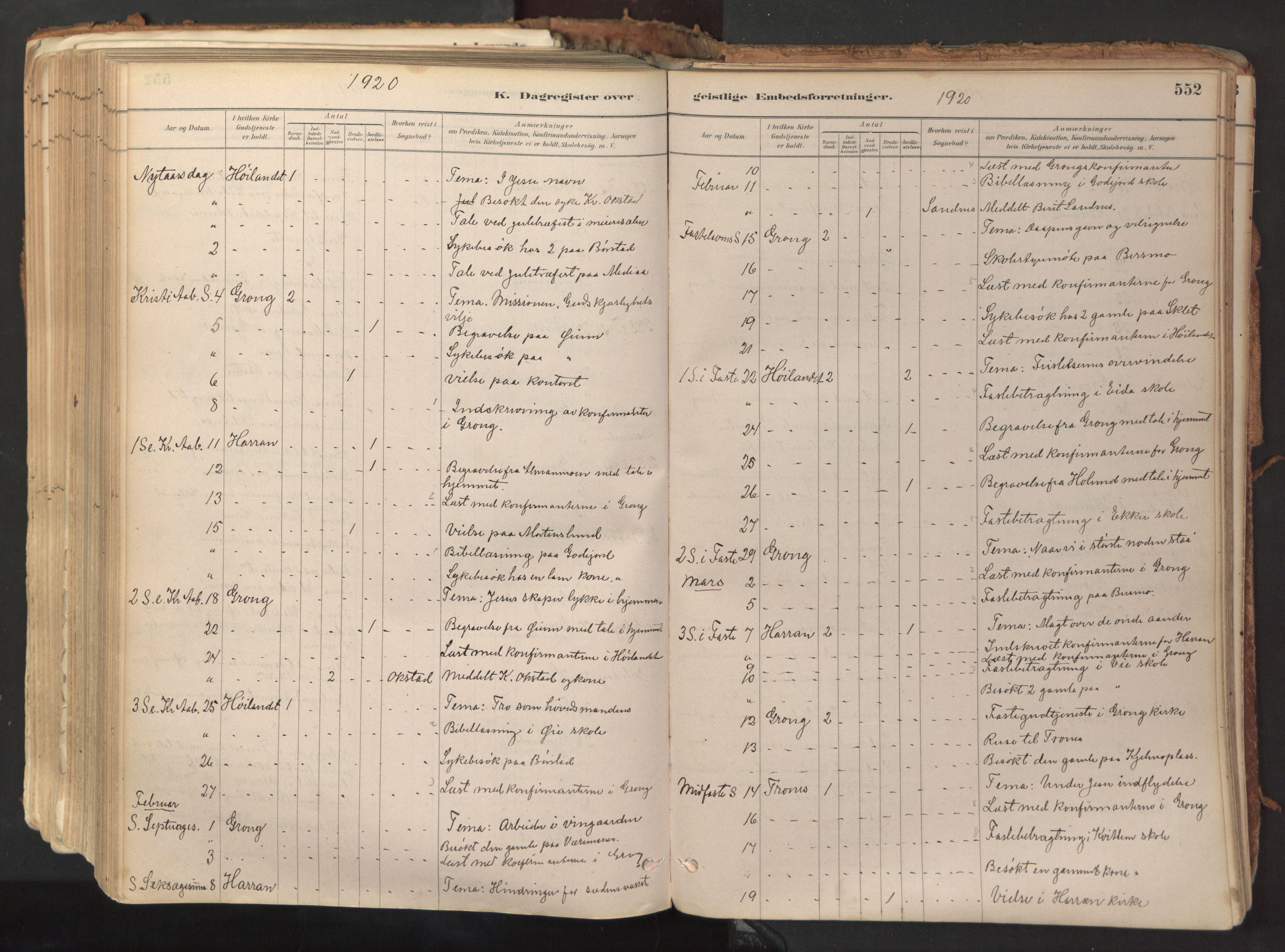SAT, Ministerialprotokoller, klokkerbøker og fødselsregistre - Nord-Trøndelag, 758/L0519: Ministerialbok nr. 758A04, 1880-1926, s. 552