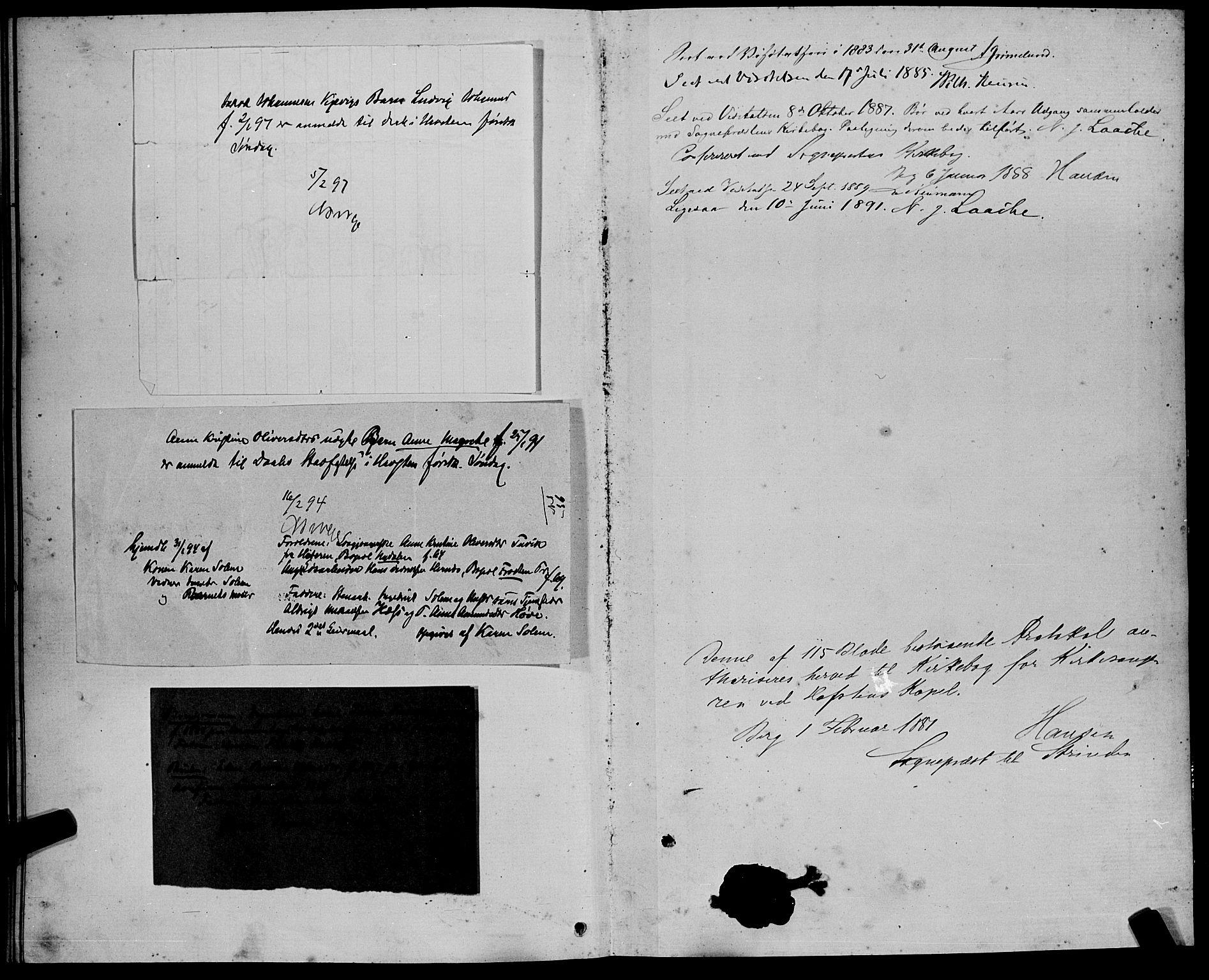 SAT, Ministerialprotokoller, klokkerbøker og fødselsregistre - Sør-Trøndelag, 611/L0354: Klokkerbok nr. 611C02, 1881-1896