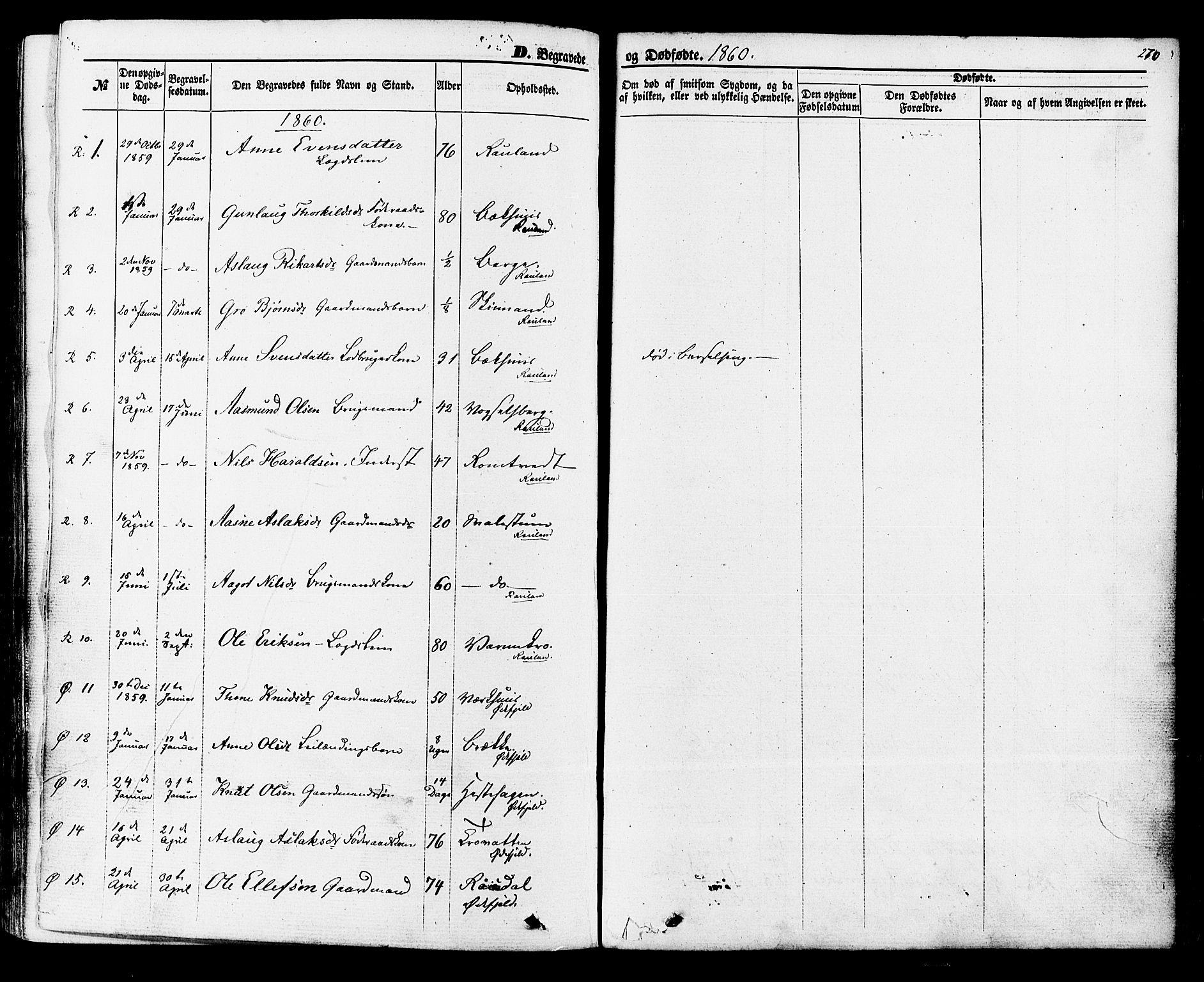 SAKO, Rauland kirkebøker, F/Fa/L0003: Ministerialbok nr. 3, 1859-1886, s. 270