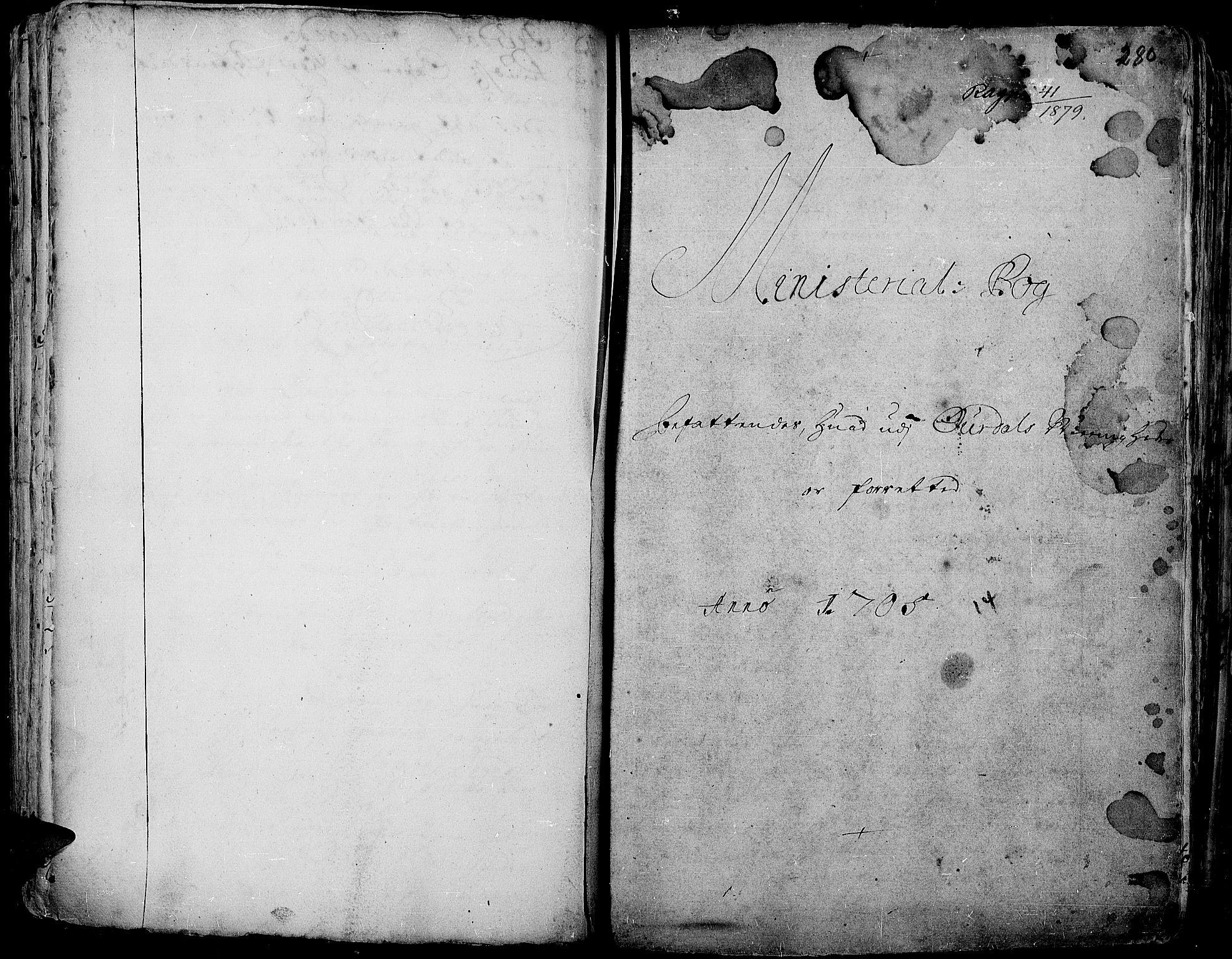 SAH, Aurdal prestekontor, Ministerialbok nr. 1-3, 1692-1730, s. 280