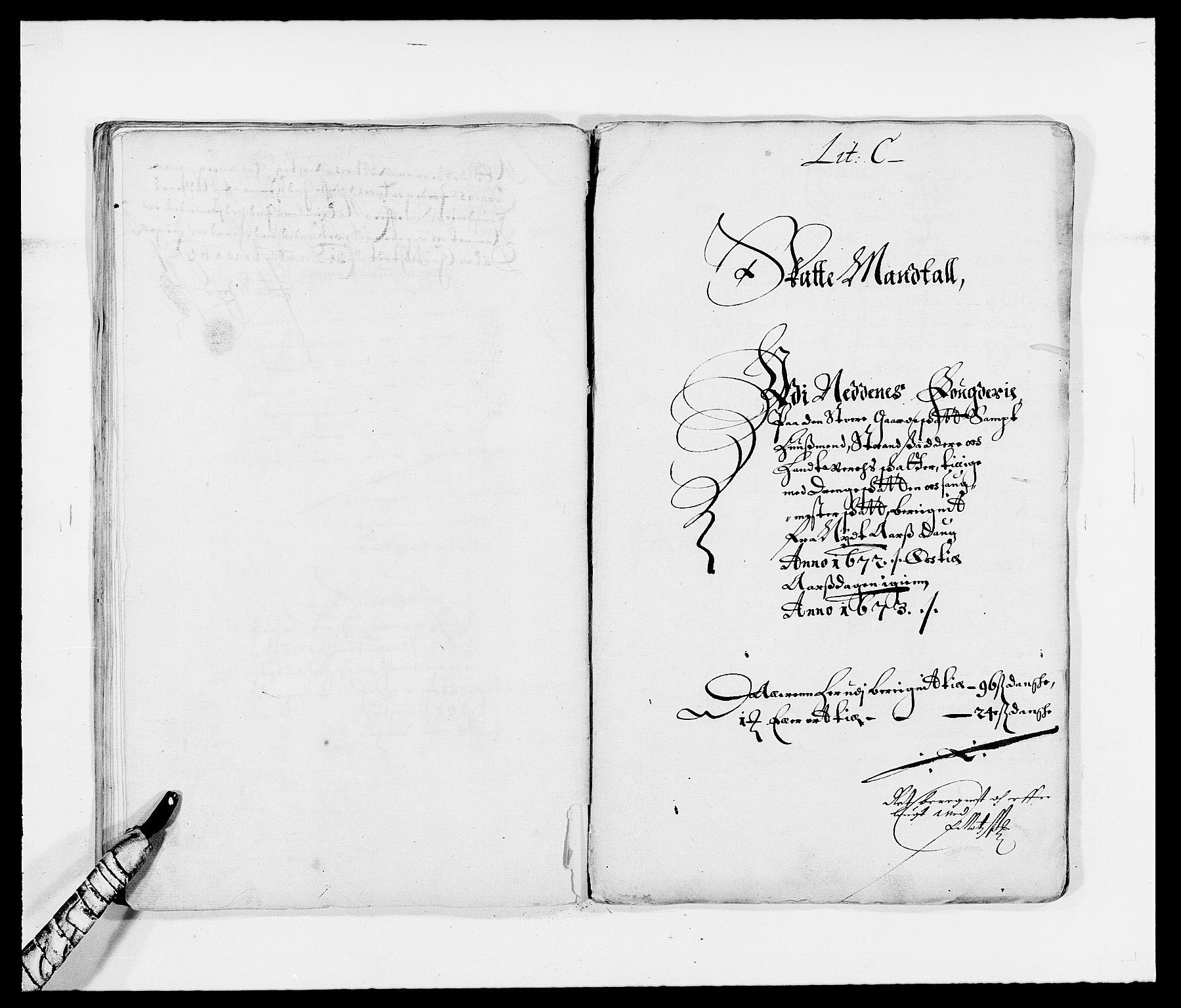 RA, Rentekammeret inntil 1814, Reviderte regnskaper, Fogderegnskap, R39/L2300: Fogderegnskap Nedenes, 1672-1674, s. 44