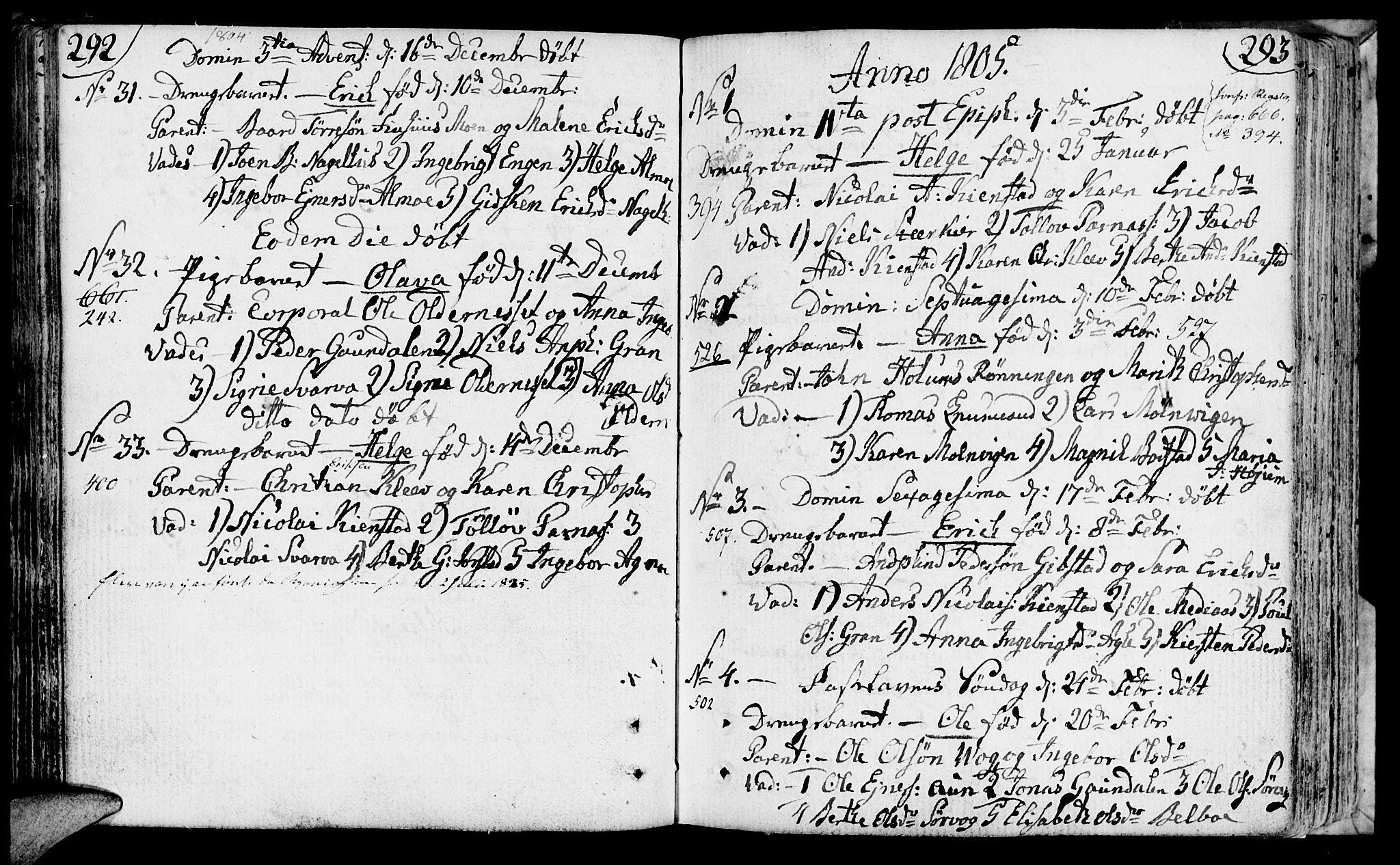 SAT, Ministerialprotokoller, klokkerbøker og fødselsregistre - Nord-Trøndelag, 749/L0468: Ministerialbok nr. 749A02, 1787-1817, s. 292-293