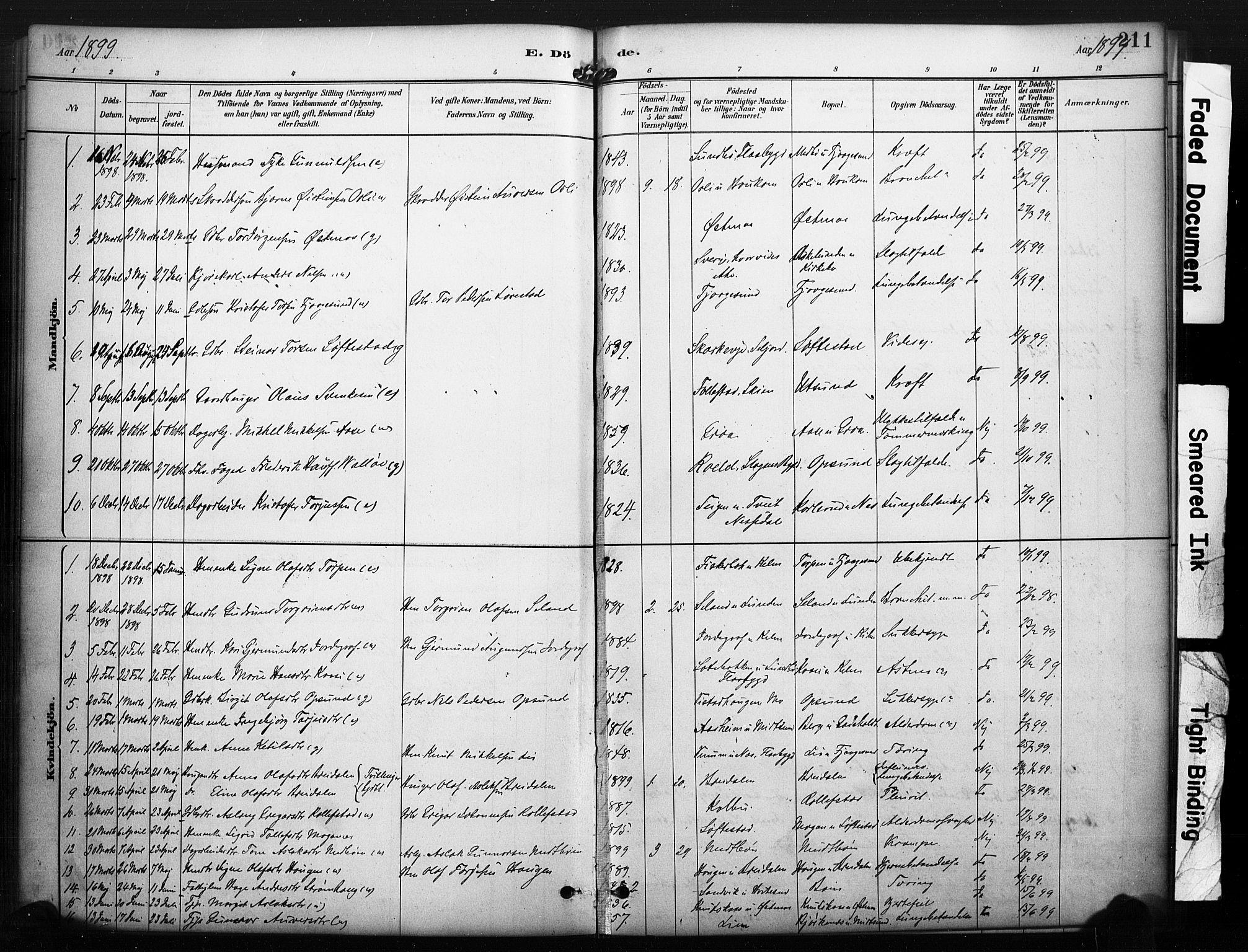 SAKO, Kviteseid kirkebøker, F/Fa/L0008: Ministerialbok nr. I 8, 1882-1903, s. 211