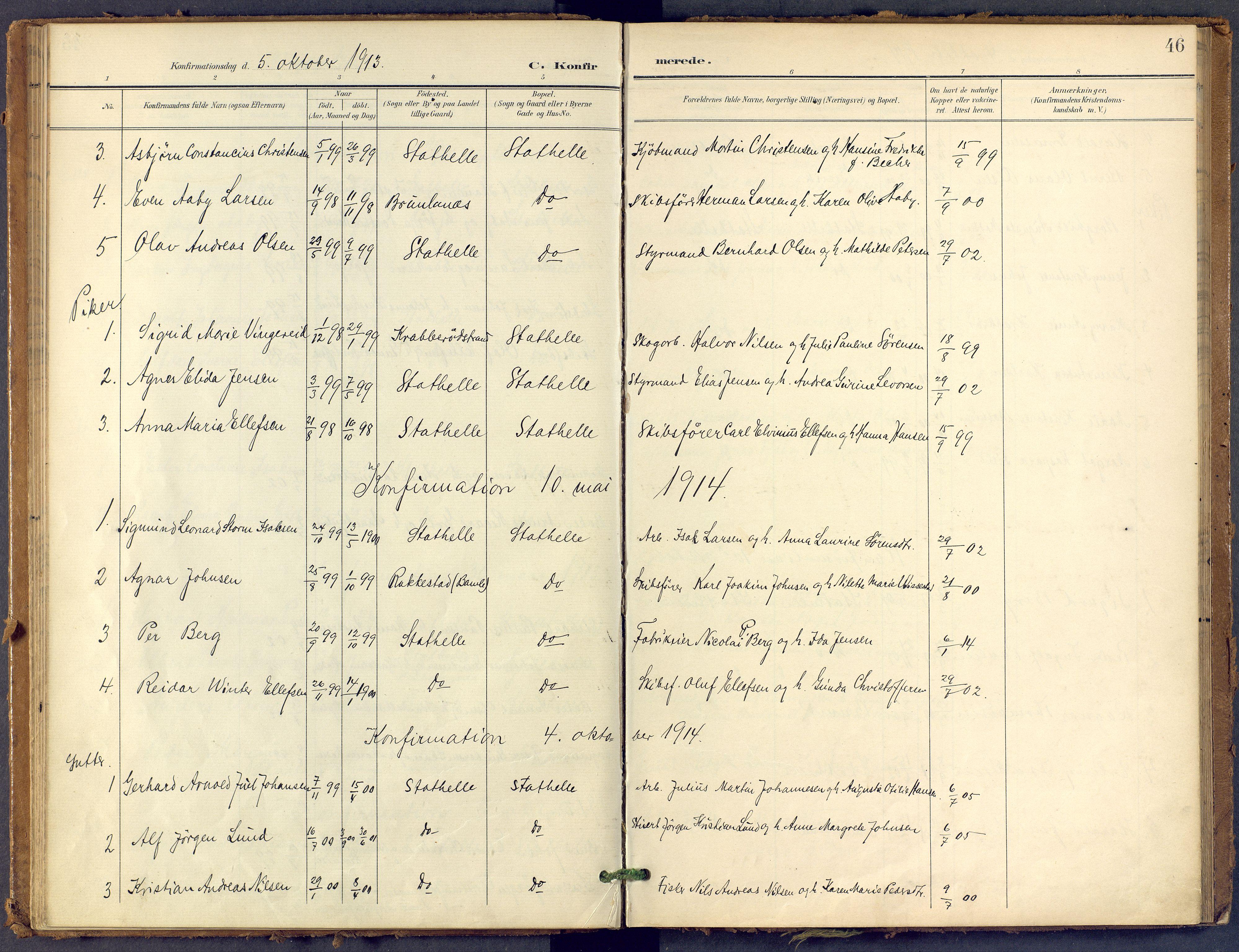 SAKO, Bamble kirkebøker, F/Fb/L0002: Ministerialbok nr. II 2, 1900-1921, s. 46