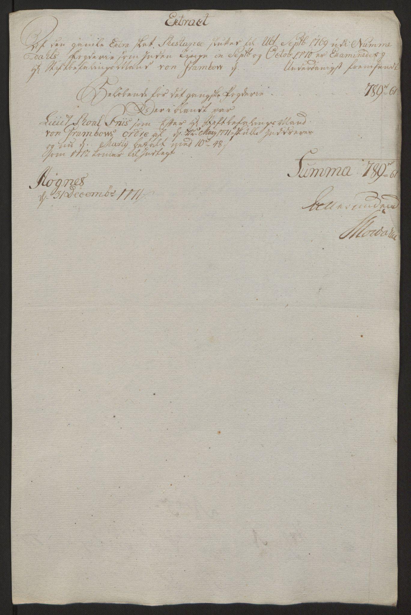 RA, Rentekammeret inntil 1814, Reviderte regnskaper, Fogderegnskap, R64/L4502: Ekstraskatten Namdal, 1762-1772, s. 416