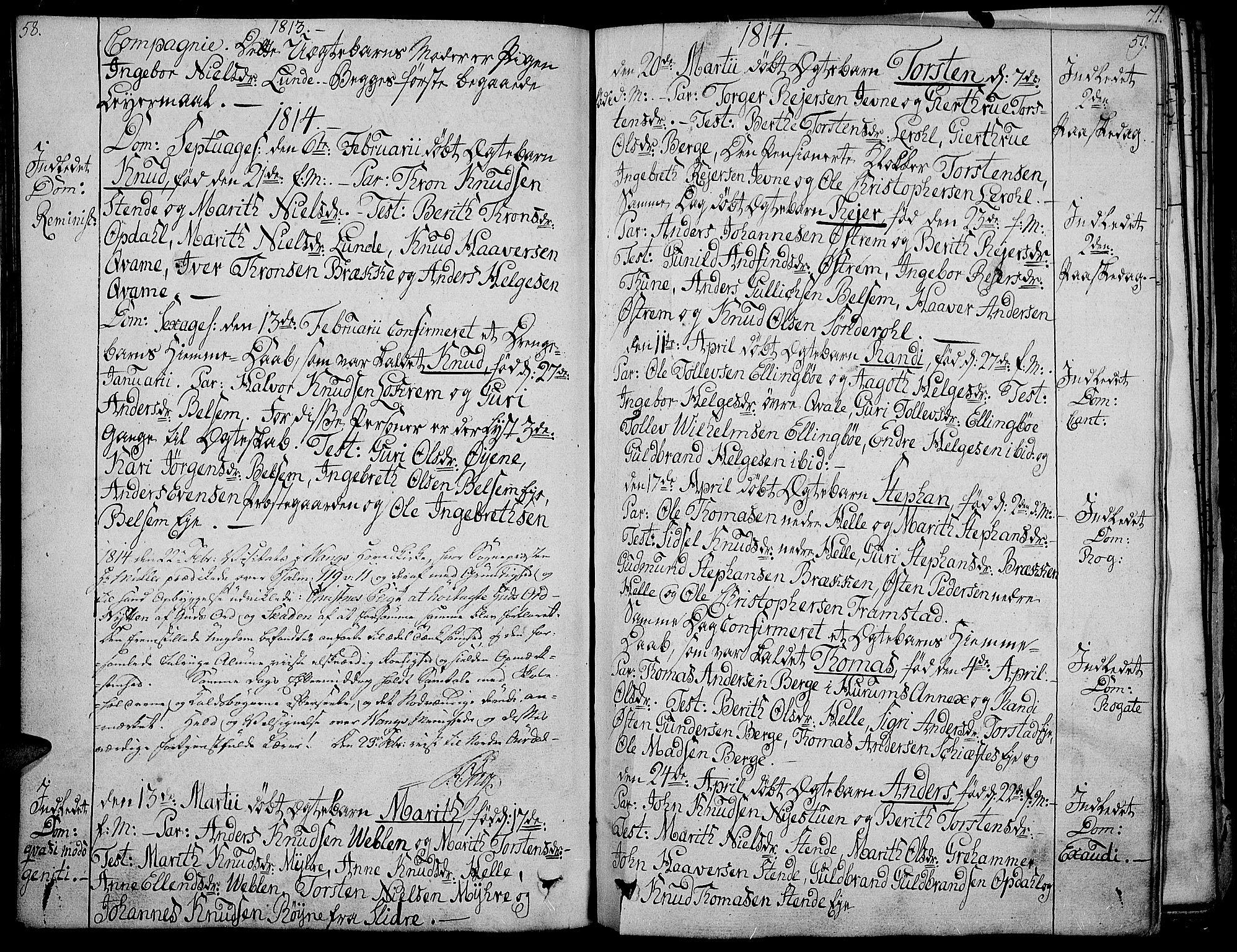 SAH, Vang prestekontor, Valdres, Ministerialbok nr. 3, 1809-1831, s. 58-59