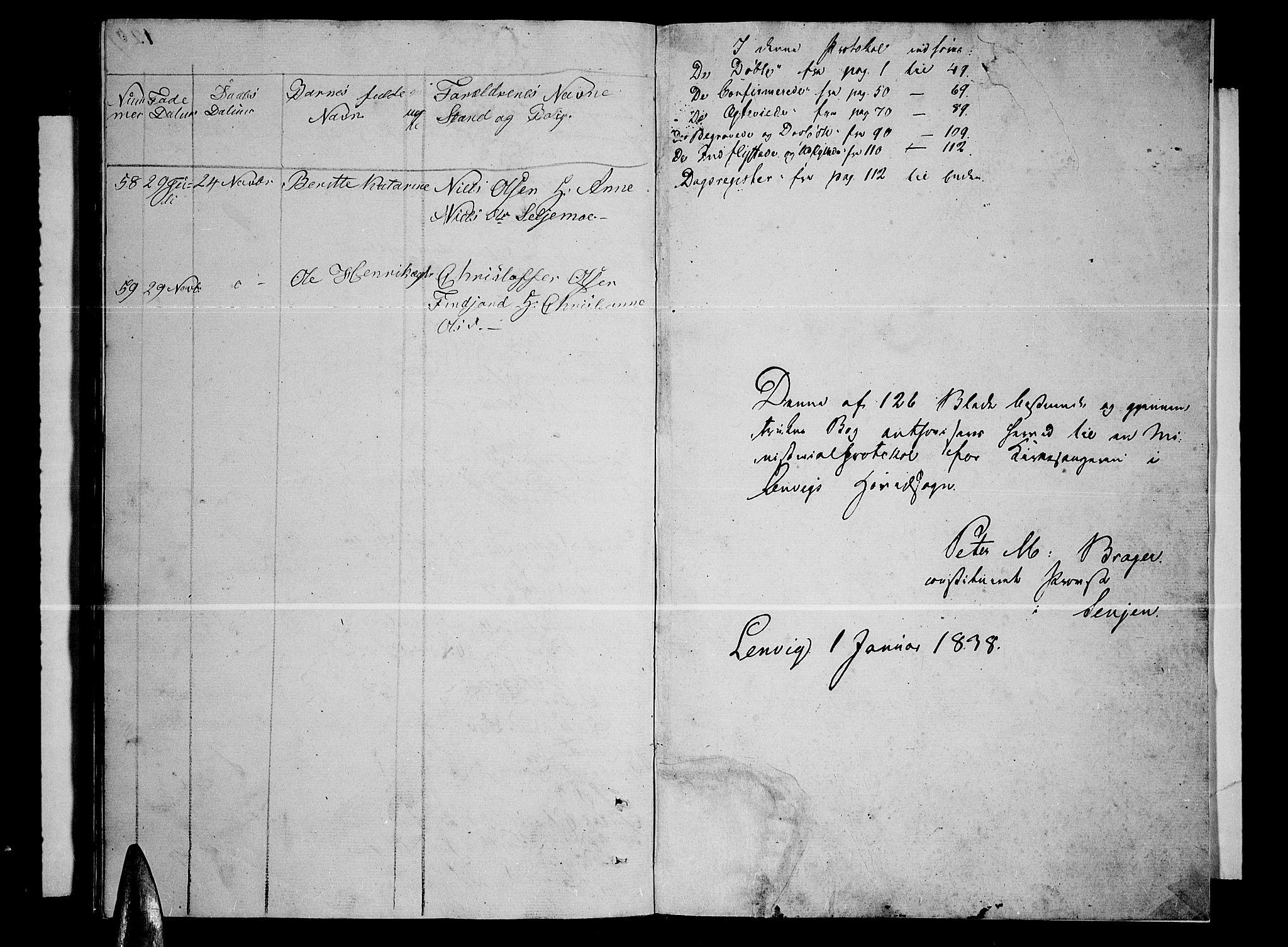 SATØ, Lenvik sokneprestembete, H/Ha: Klokkerbok nr. 2, 1838-1843, s. 121