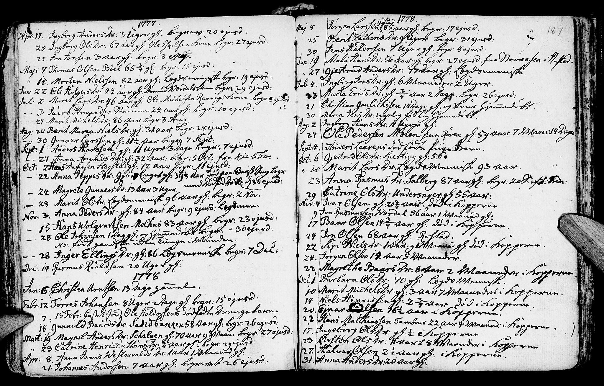 SAT, Ministerialprotokoller, klokkerbøker og fødselsregistre - Nord-Trøndelag, 730/L0273: Ministerialbok nr. 730A02, 1762-1802, s. 187