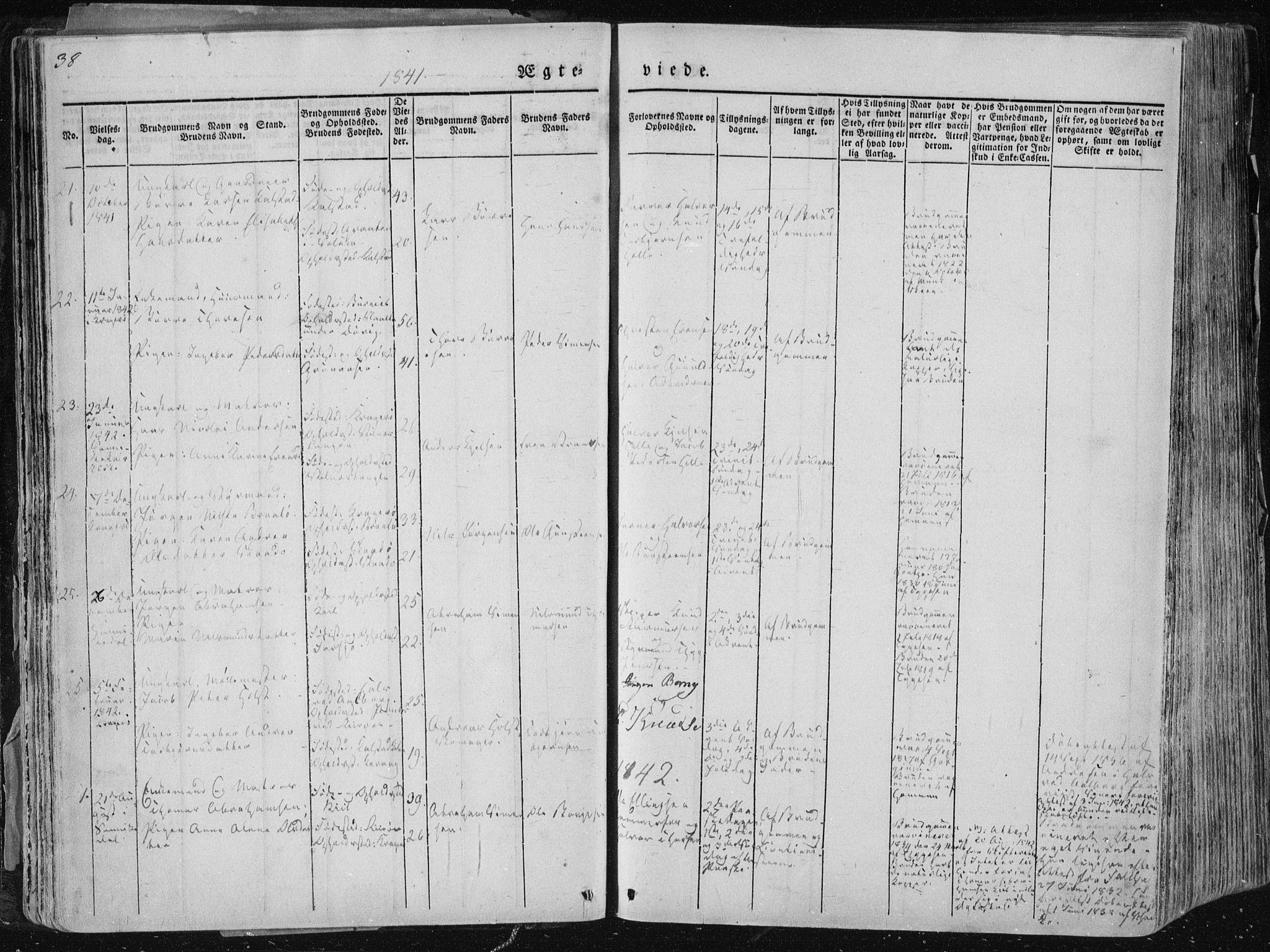 SAKO, Sannidal kirkebøker, F/Fa/L0007: Ministerialbok nr. 7, 1831-1854, s. 38