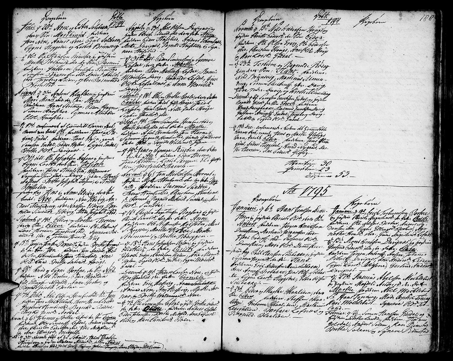 SAB, Davik Sokneprestembete, Ministerialbok nr. A 2, 1742-1816, s. 188