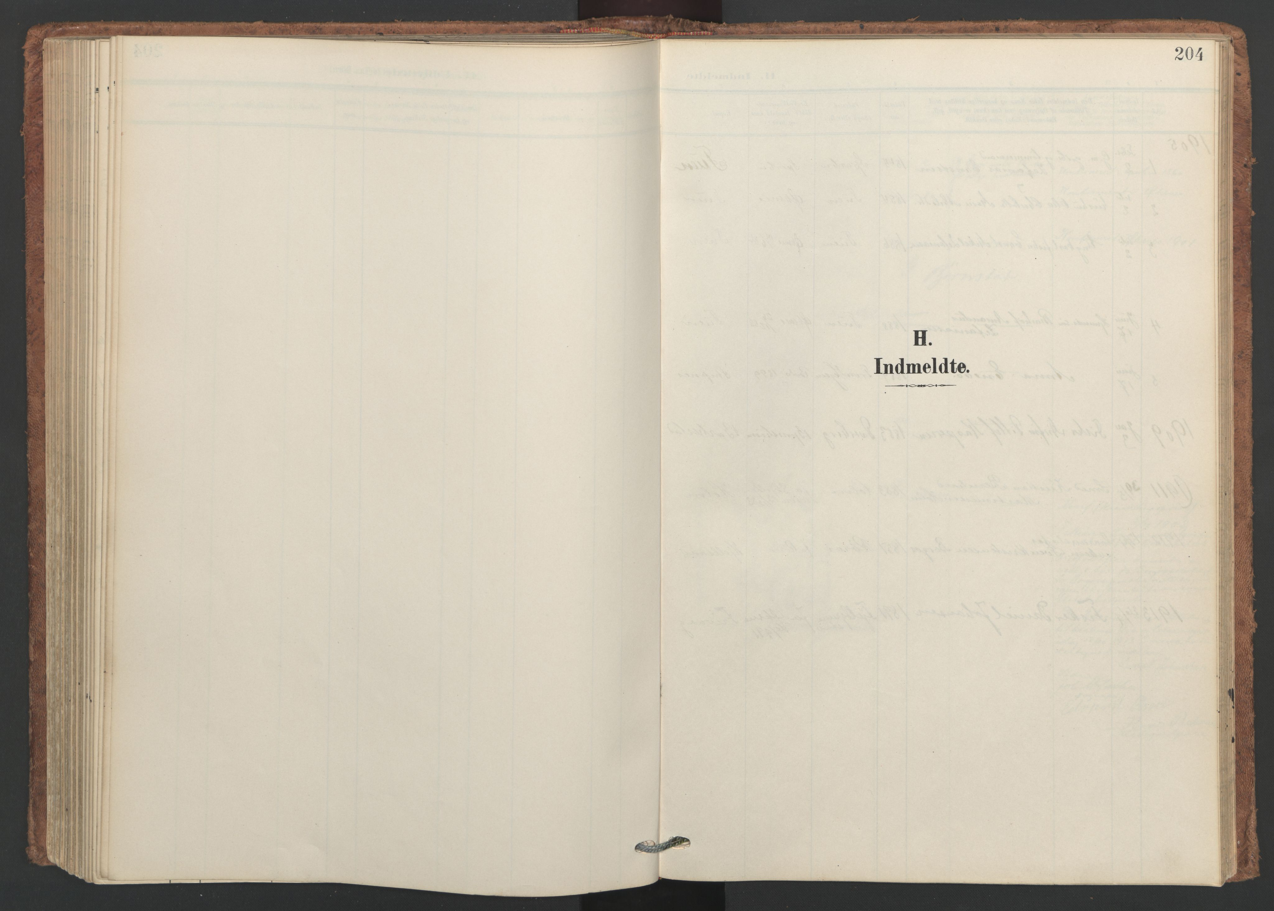 SAT, Ministerialprotokoller, klokkerbøker og fødselsregistre - Nordland, 893/L1339: Ministerialbok nr. 893A11, 1904-1914, s. 204