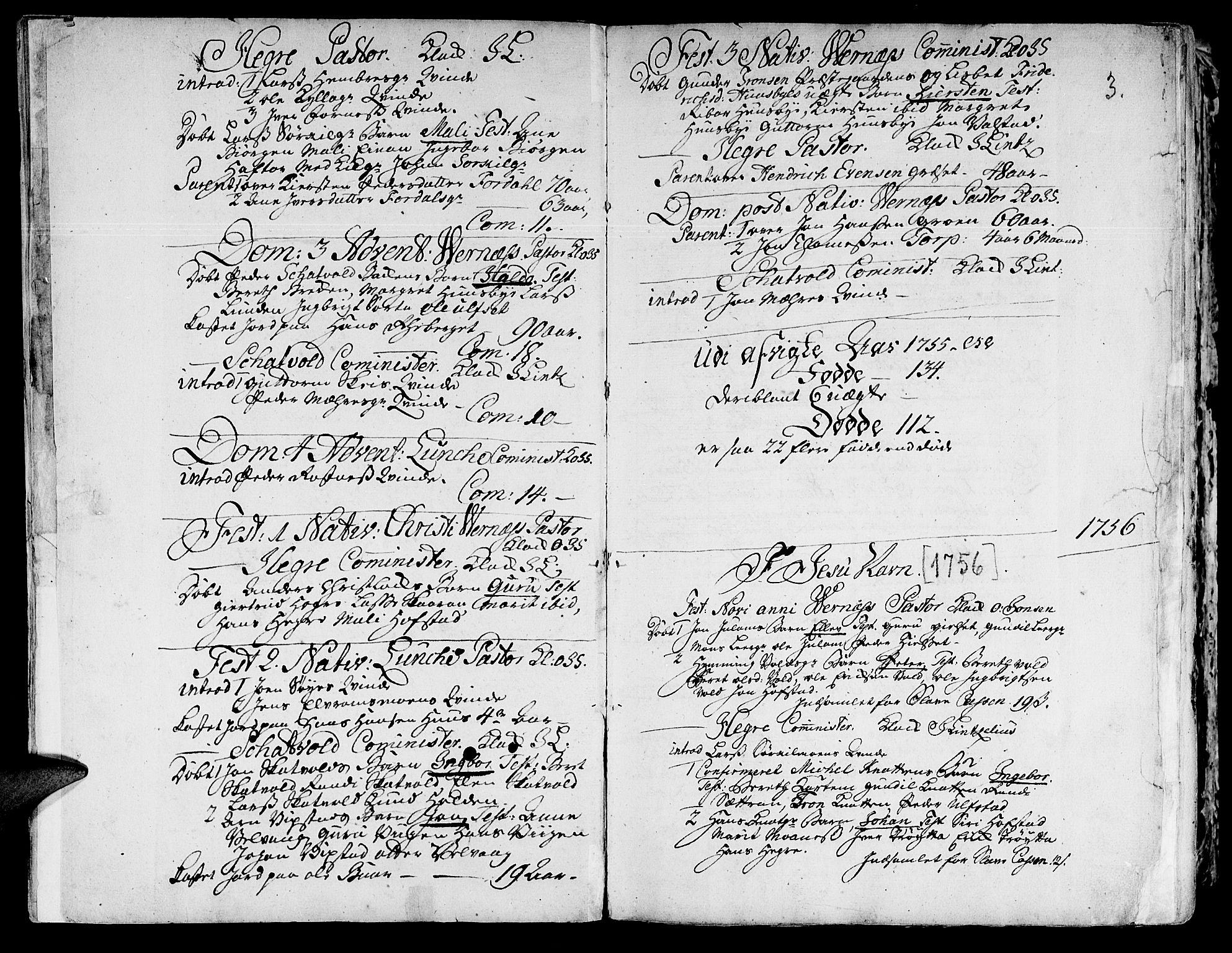SAT, Ministerialprotokoller, klokkerbøker og fødselsregistre - Nord-Trøndelag, 709/L0057: Ministerialbok nr. 709A05, 1755-1780, s. 3