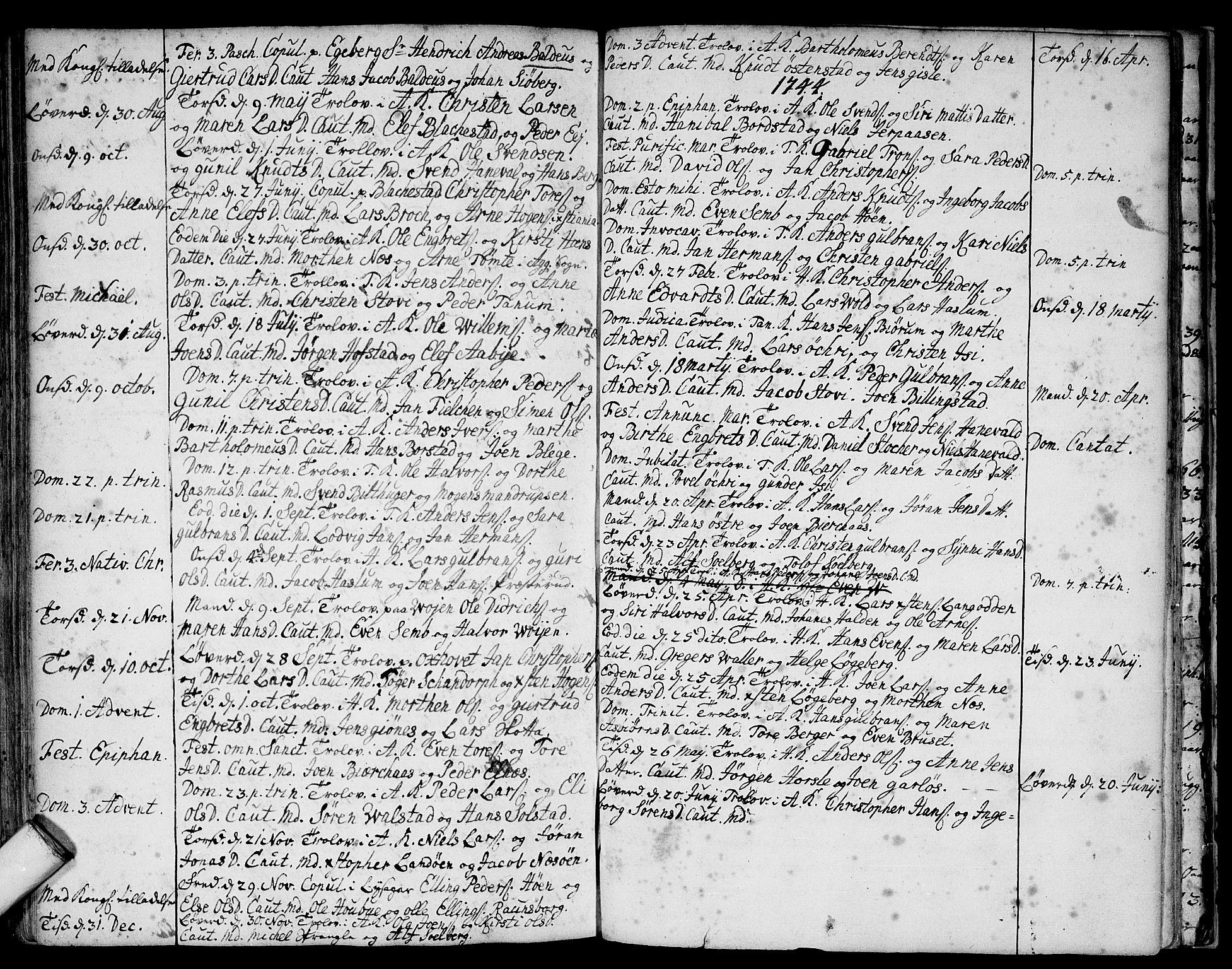 SAO, Asker prestekontor Kirkebøker, F/Fa/L0001: Ministerialbok nr. I 1, 1726-1744, s. 94