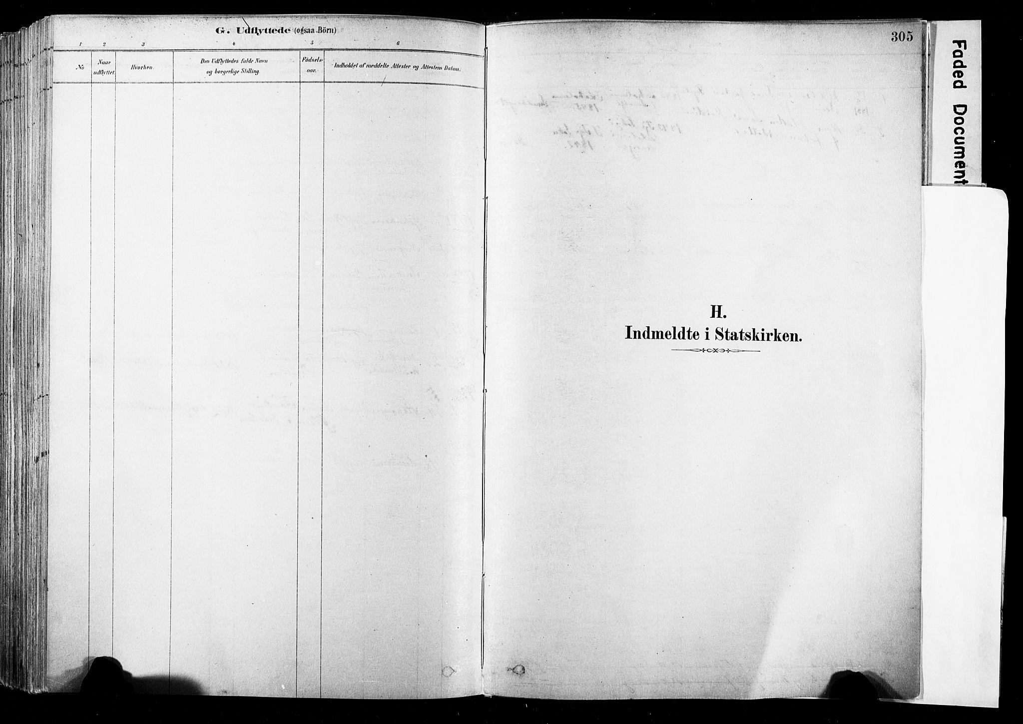 SAKO, Strømsø kirkebøker, F/Fb/L0006: Ministerialbok nr. II 6, 1879-1910, s. 305