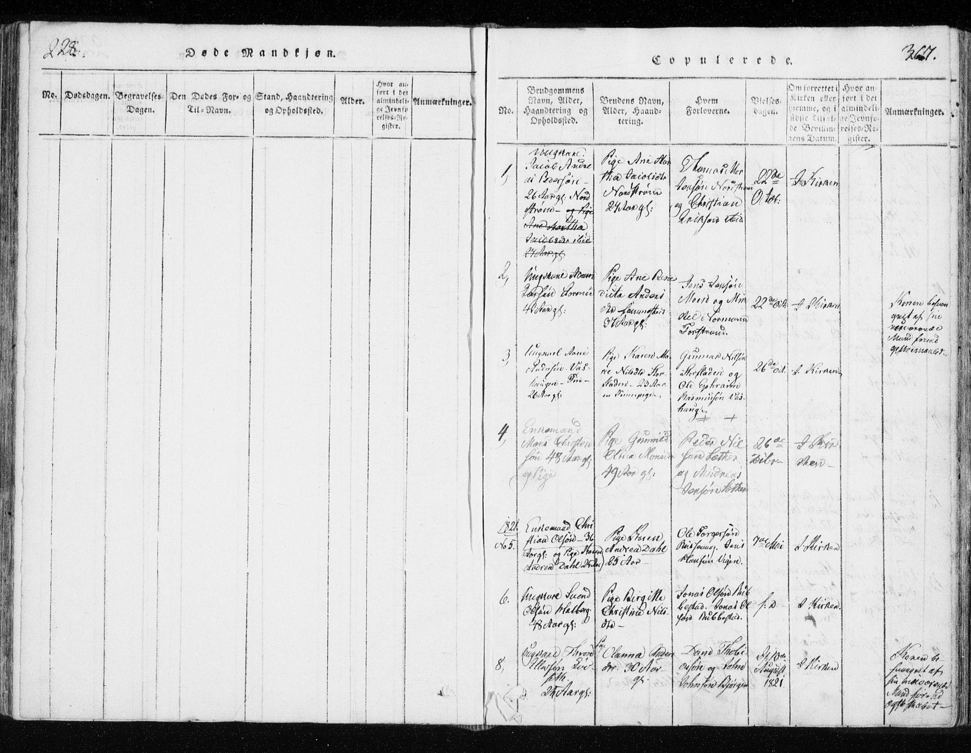 SATØ, Tranøy sokneprestkontor, I/Ia/Iaa/L0004kirke: Ministerialbok nr. 4, 1820-1829, s. 366-367