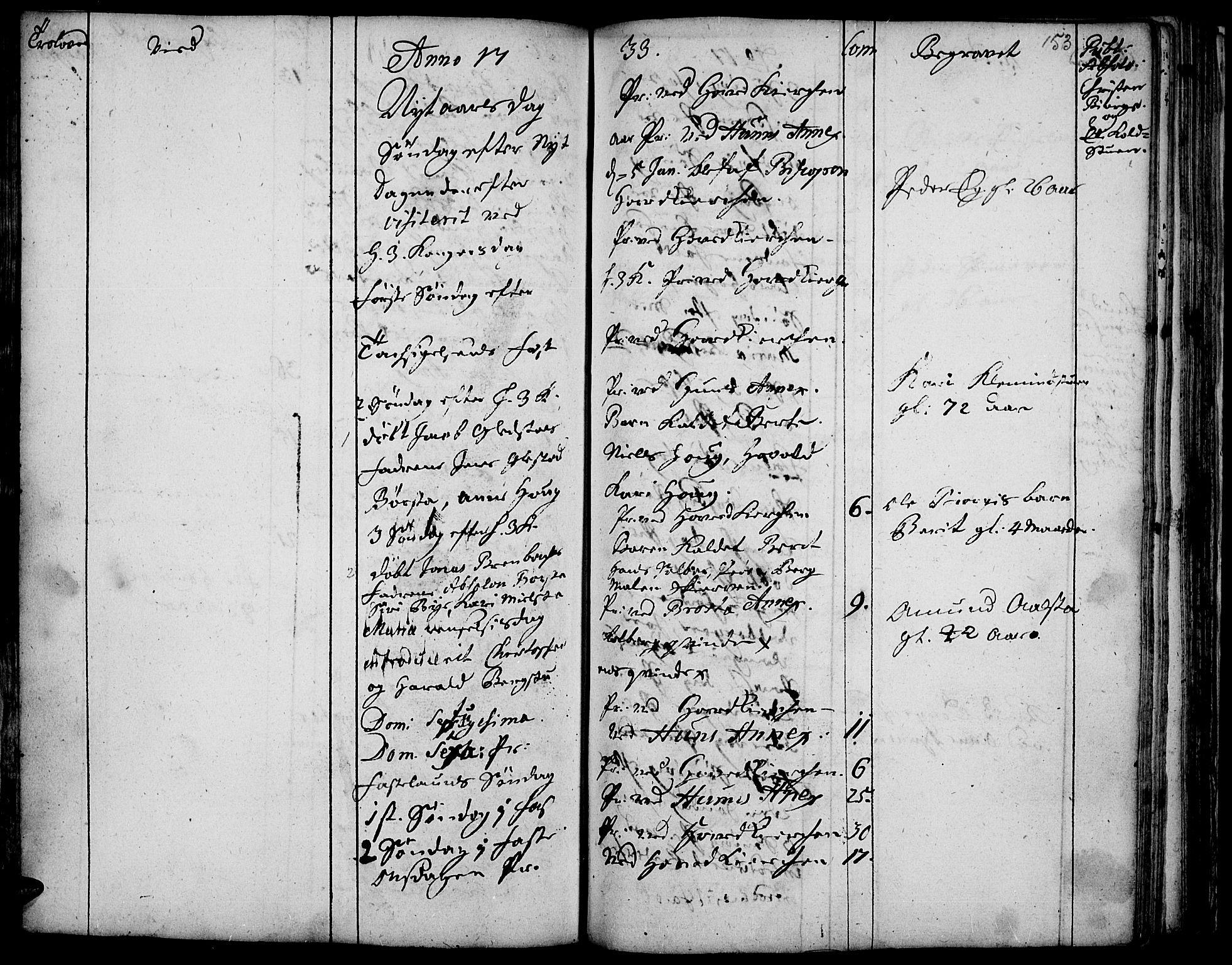 SAH, Vardal prestekontor, H/Ha/Haa/L0001: Ministerialbok nr. 1, 1706-1748, s. 153