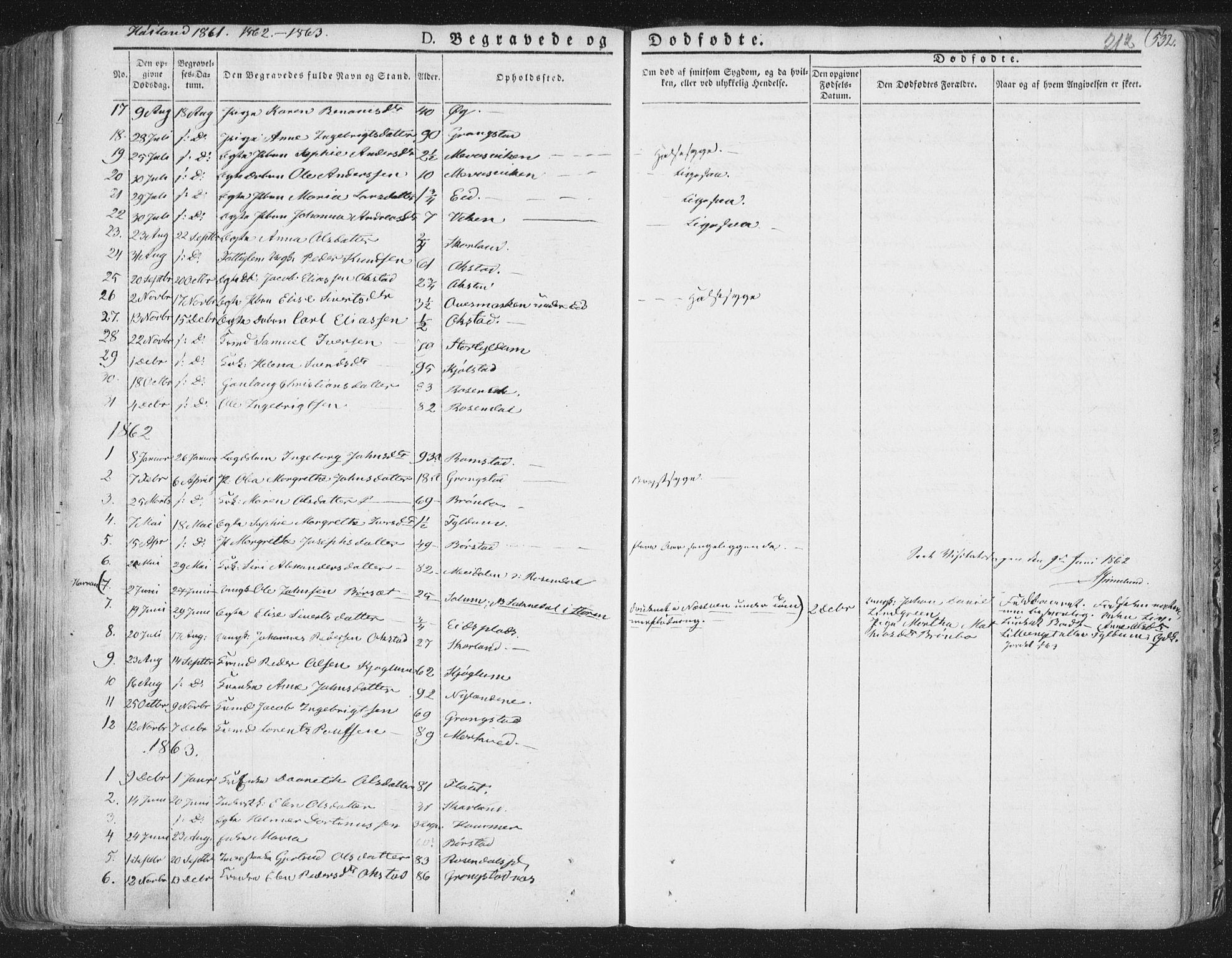 SAT, Ministerialprotokoller, klokkerbøker og fødselsregistre - Nord-Trøndelag, 758/L0513: Ministerialbok nr. 758A02 /2, 1839-1868, s. 212