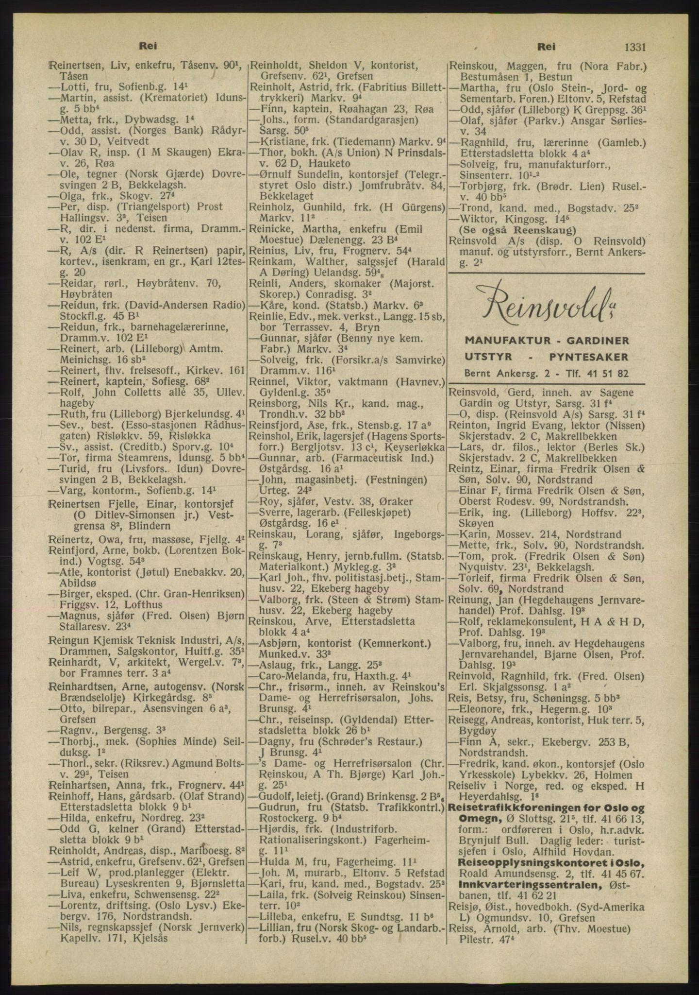 RA, Oslo adressebok (publikasjon)*, 1955, s. 1331