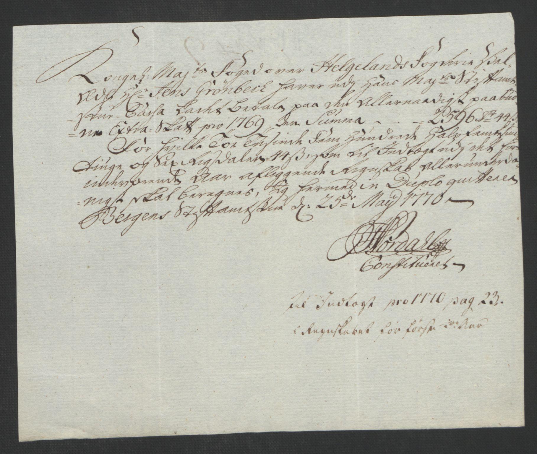 RA, Rentekammeret inntil 1814, Reviderte regnskaper, Fogderegnskap, R65/L4573: Ekstraskatten Helgeland, 1762-1772, s. 289