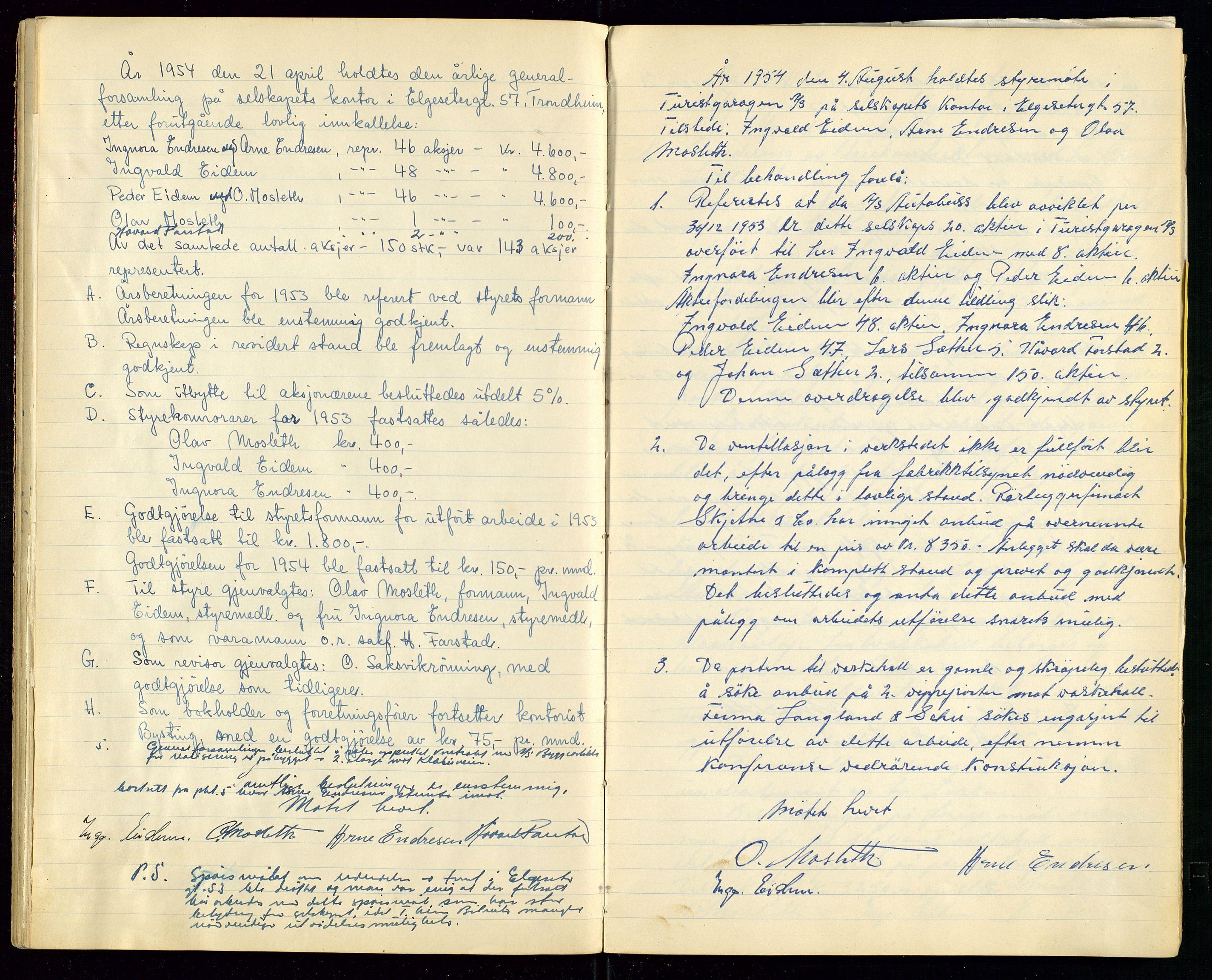 SAST, PA 1515 - Turistgarasjen A/S, A/L0001: Forhandlingsprotokoll, 1937-1958, s. 34