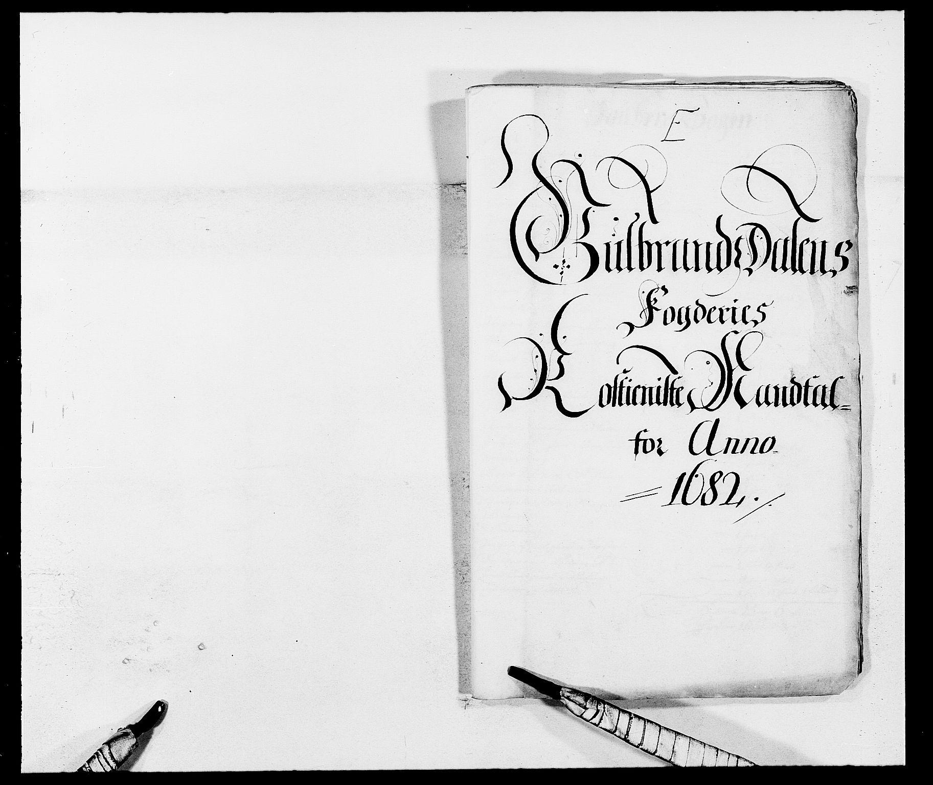 RA, Rentekammeret inntil 1814, Reviderte regnskaper, Fogderegnskap, R17/L1157: Fogderegnskap Gudbrandsdal, 1682-1689, s. 314