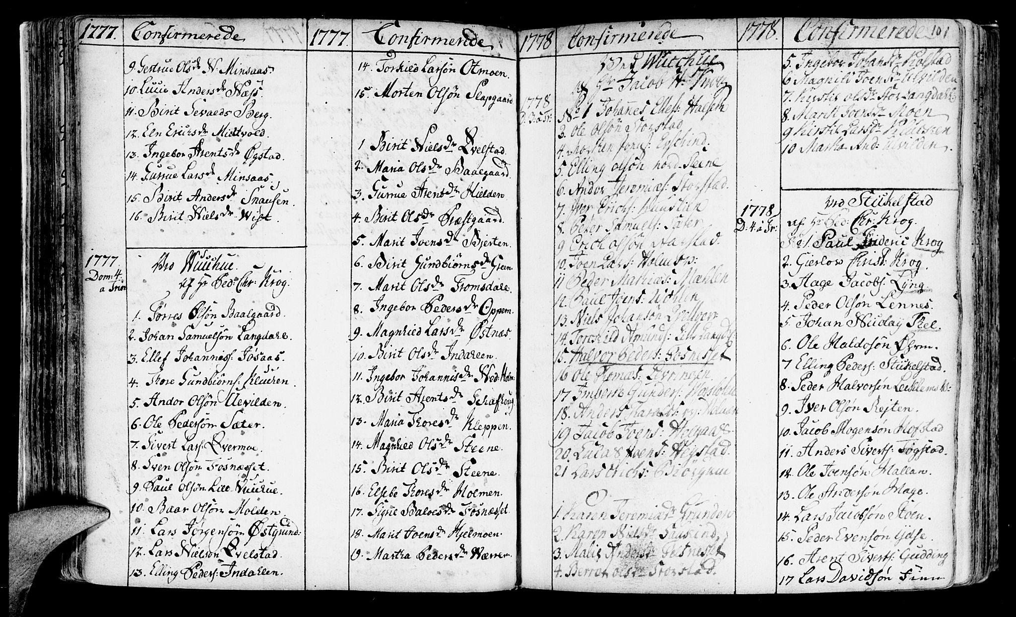SAT, Ministerialprotokoller, klokkerbøker og fødselsregistre - Nord-Trøndelag, 723/L0231: Ministerialbok nr. 723A02, 1748-1780, s. 101