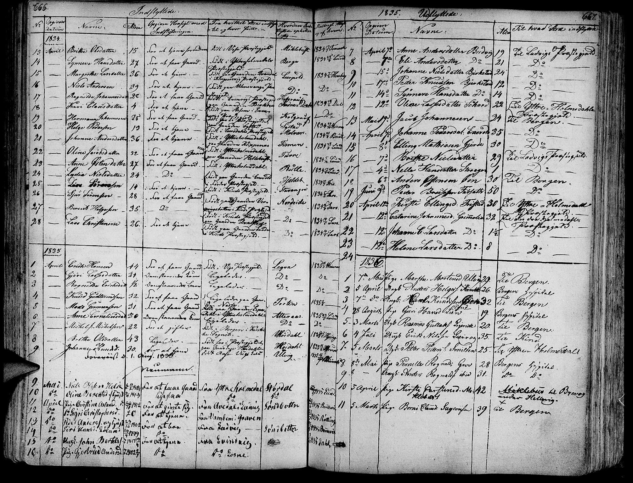 SAB, Askvoll Sokneprestembete, Ministerialbok nr. A 10, 1821-1844, s. 666-667