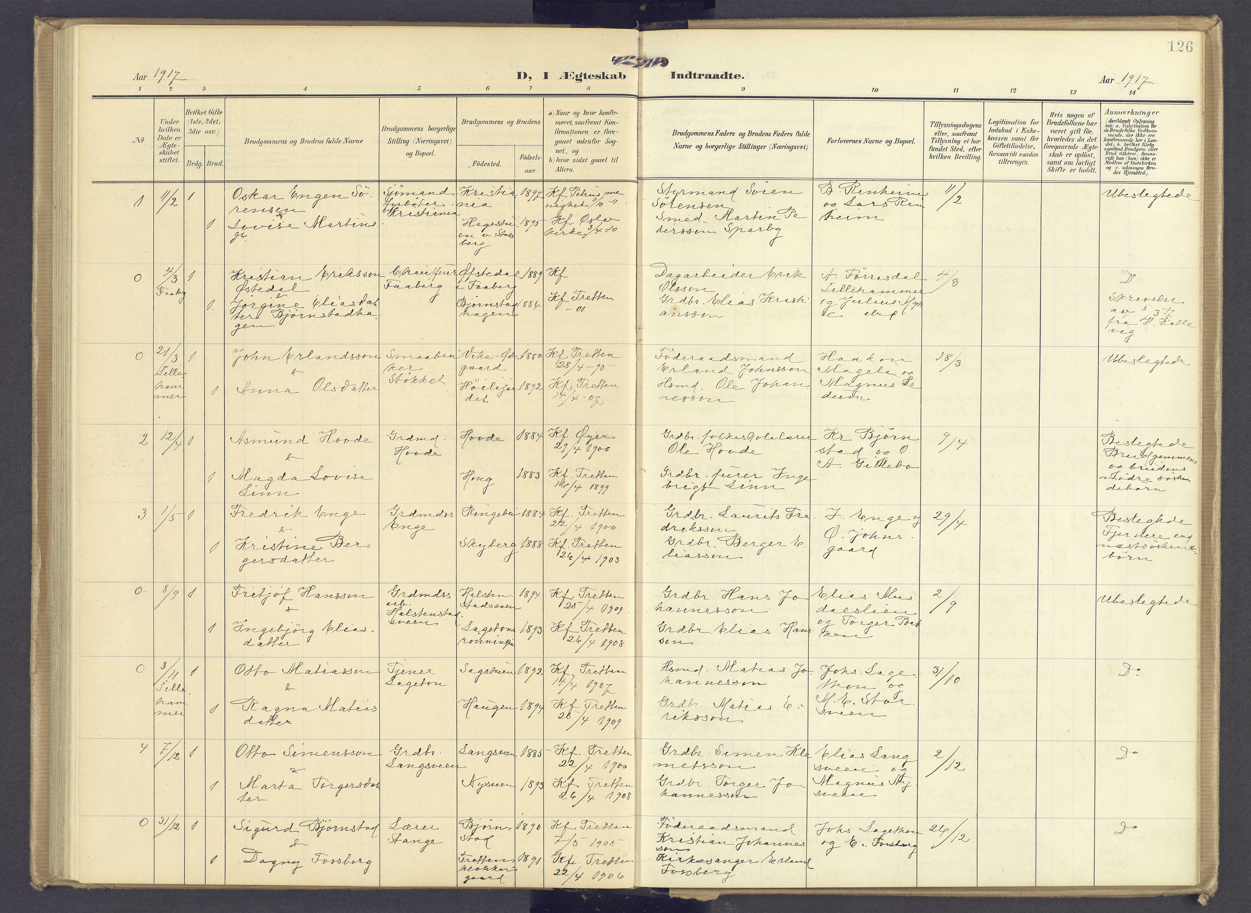 SAH, Øyer prestekontor, Ministerialbok nr. 13, 1905-1920, s. 126