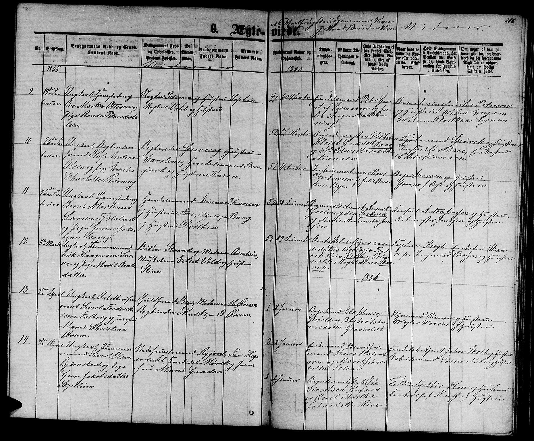 SAT, Ministerialprotokoller, klokkerbøker og fødselsregistre - Sør-Trøndelag, 601/L0087: Klokkerbok nr. 601C05, 1864-1881, s. 216