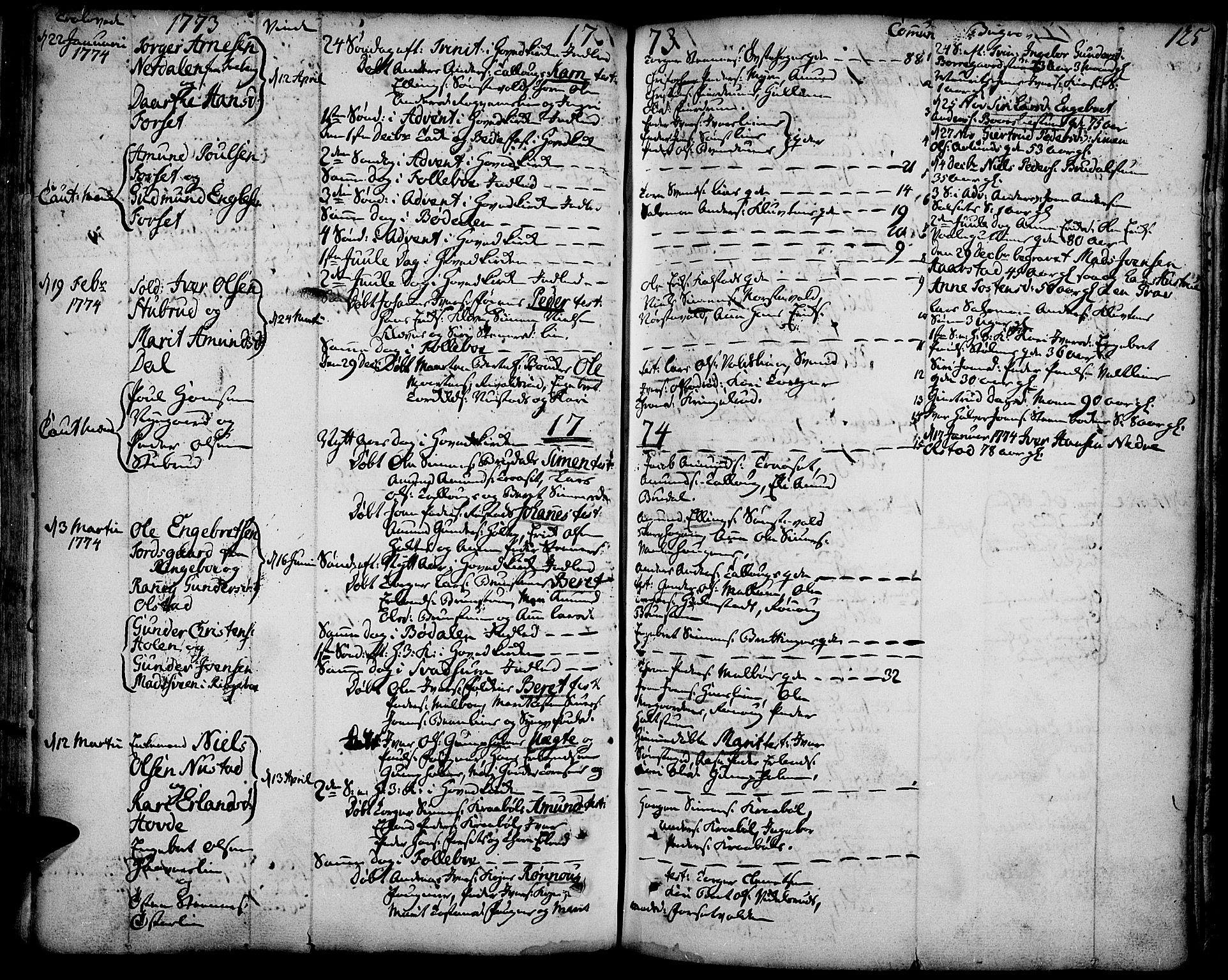 SAH, Gausdal prestekontor, Ministerialbok nr. 3, 1758-1809, s. 125